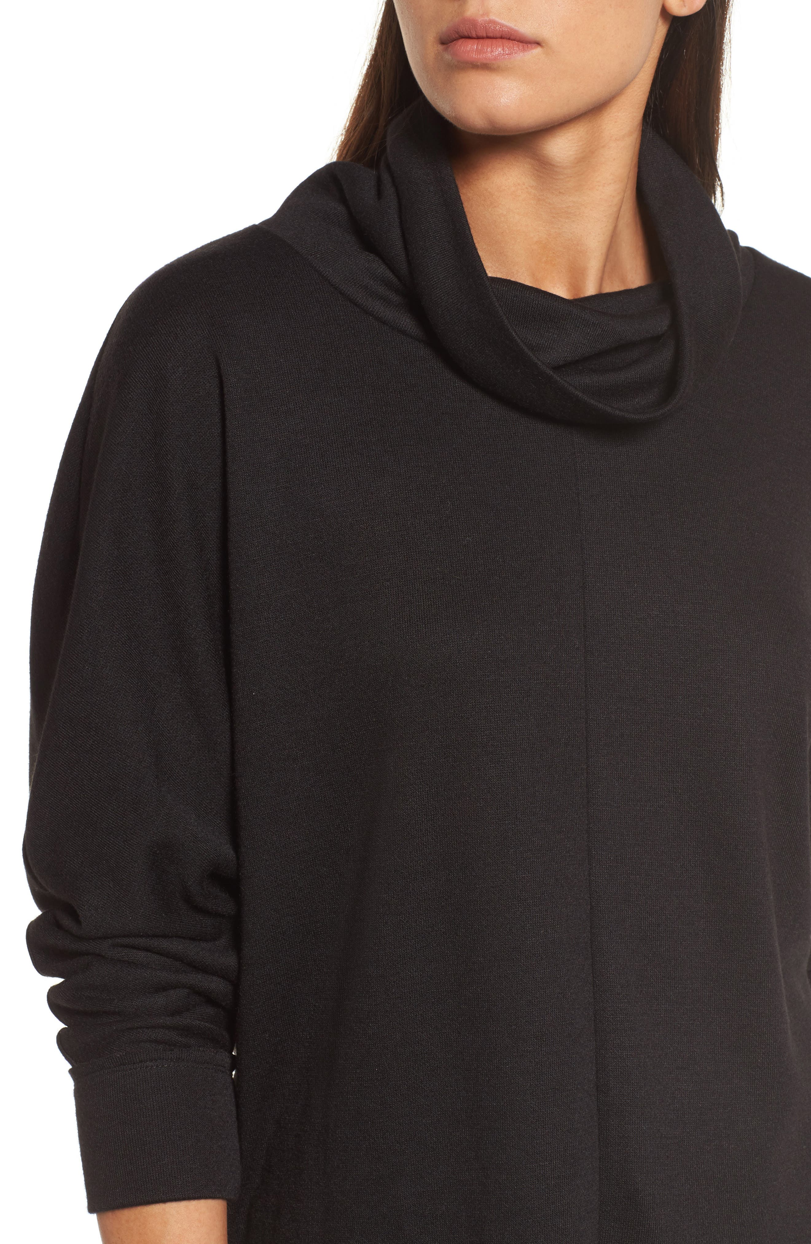 Cowl Neck Pullover,                             Alternate thumbnail 4, color,                             001