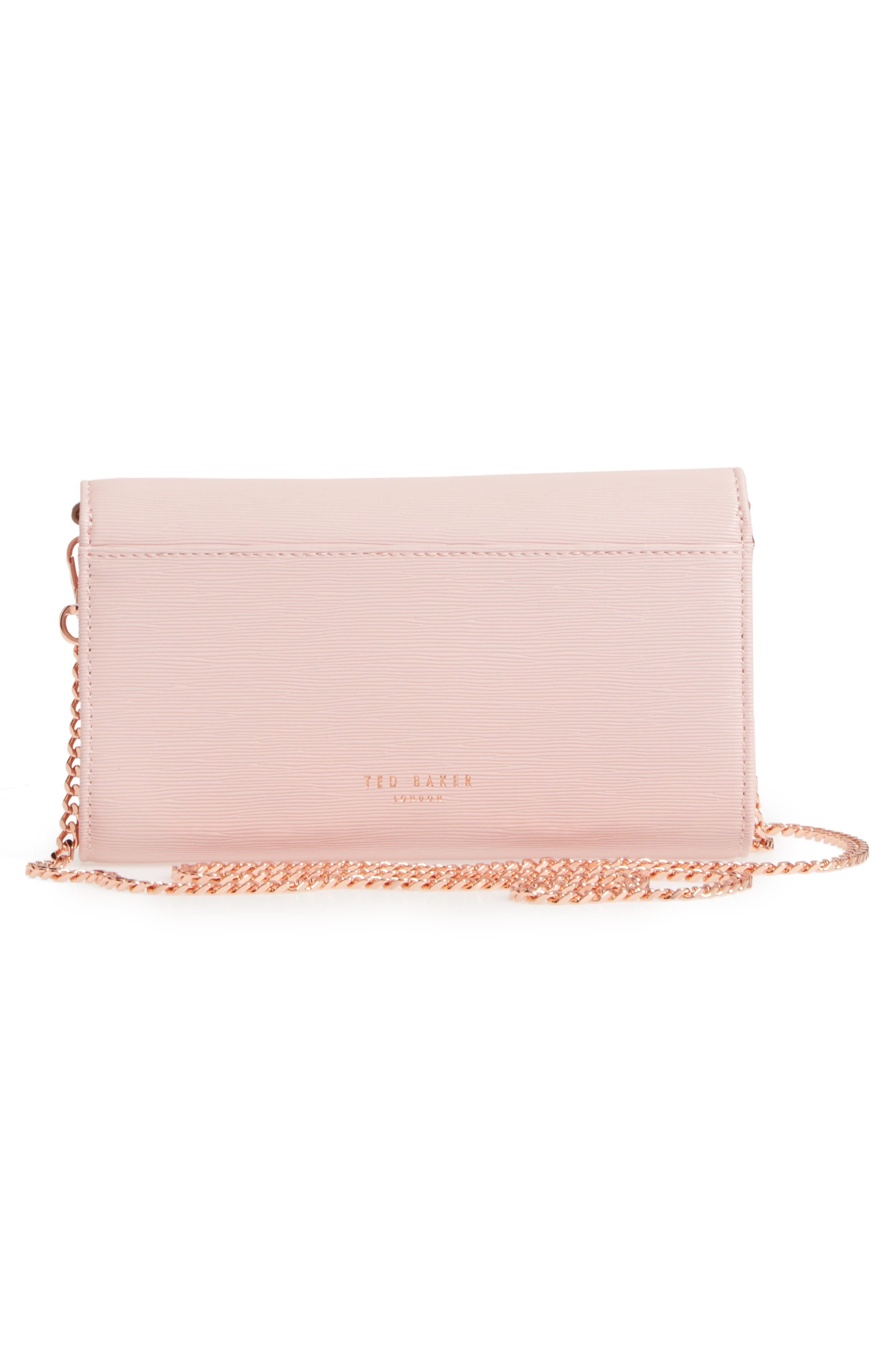 Melisia Bow Matinée Wallet on a Chain,                             Alternate thumbnail 9, color,