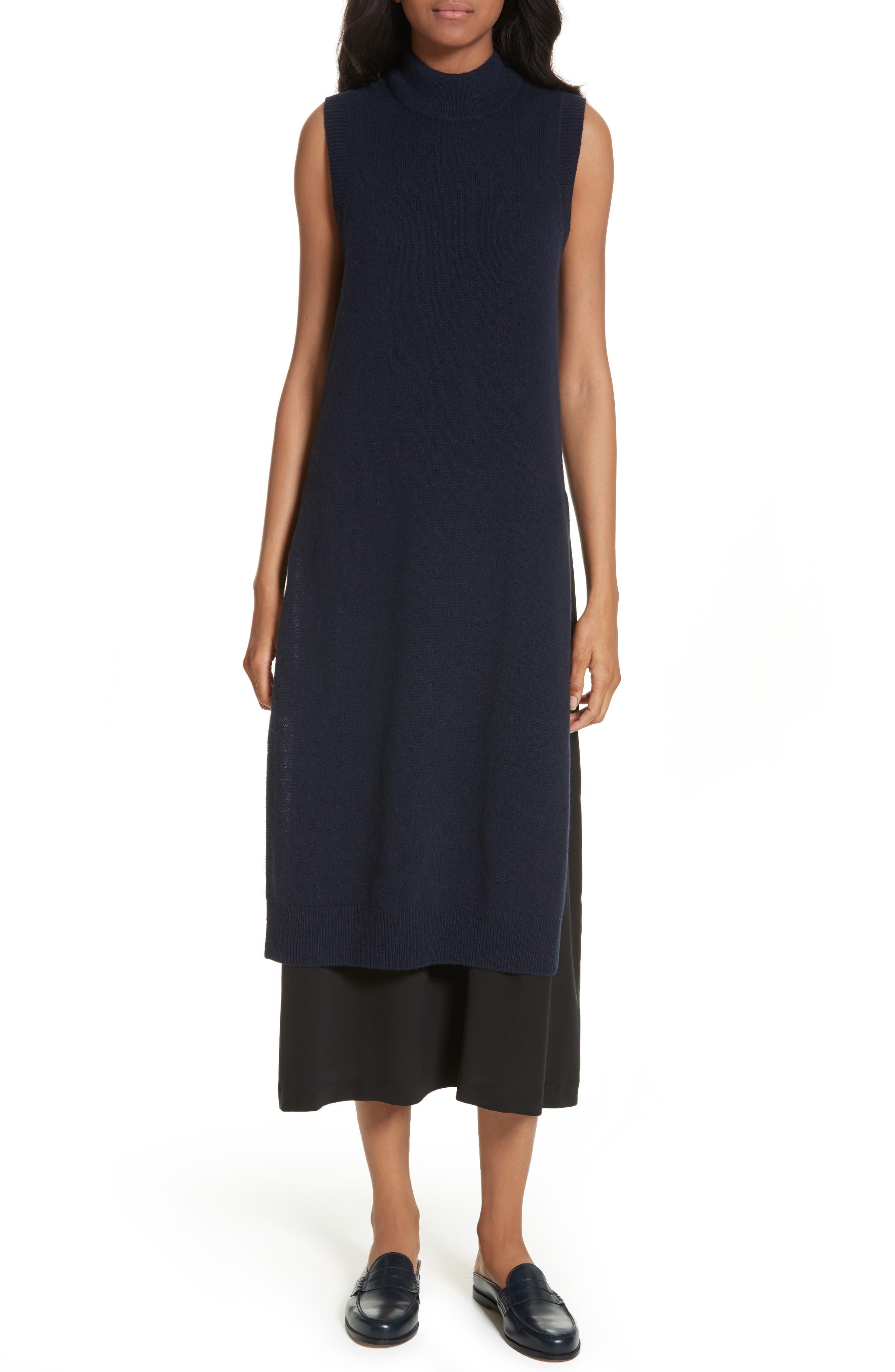 Joy Mixed Media Maxi Sweater Dress,                         Main,                         color, 410