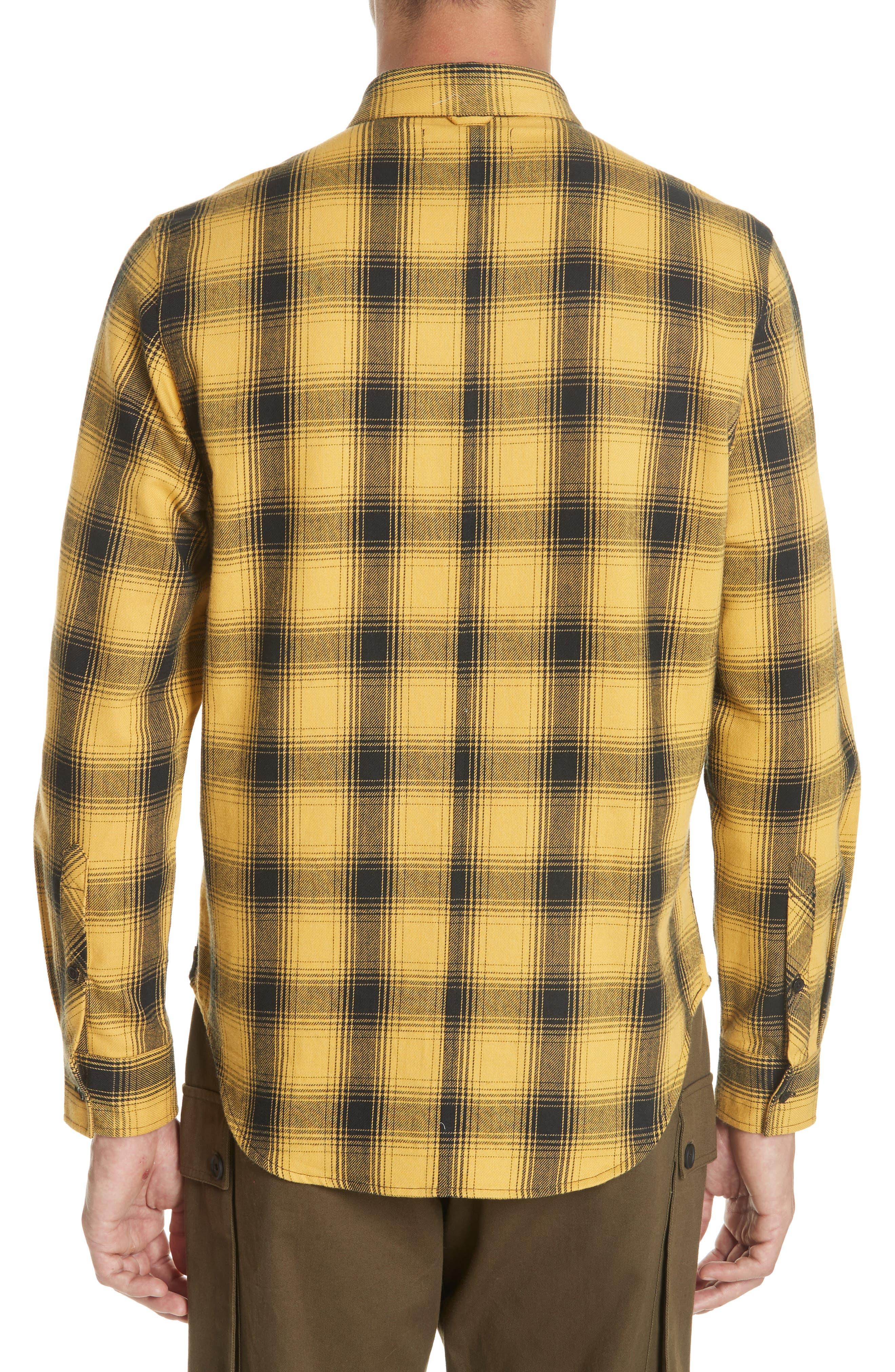 Max Plaid Flannel Shirt,                             Alternate thumbnail 3, color,                             GOLD PLAID