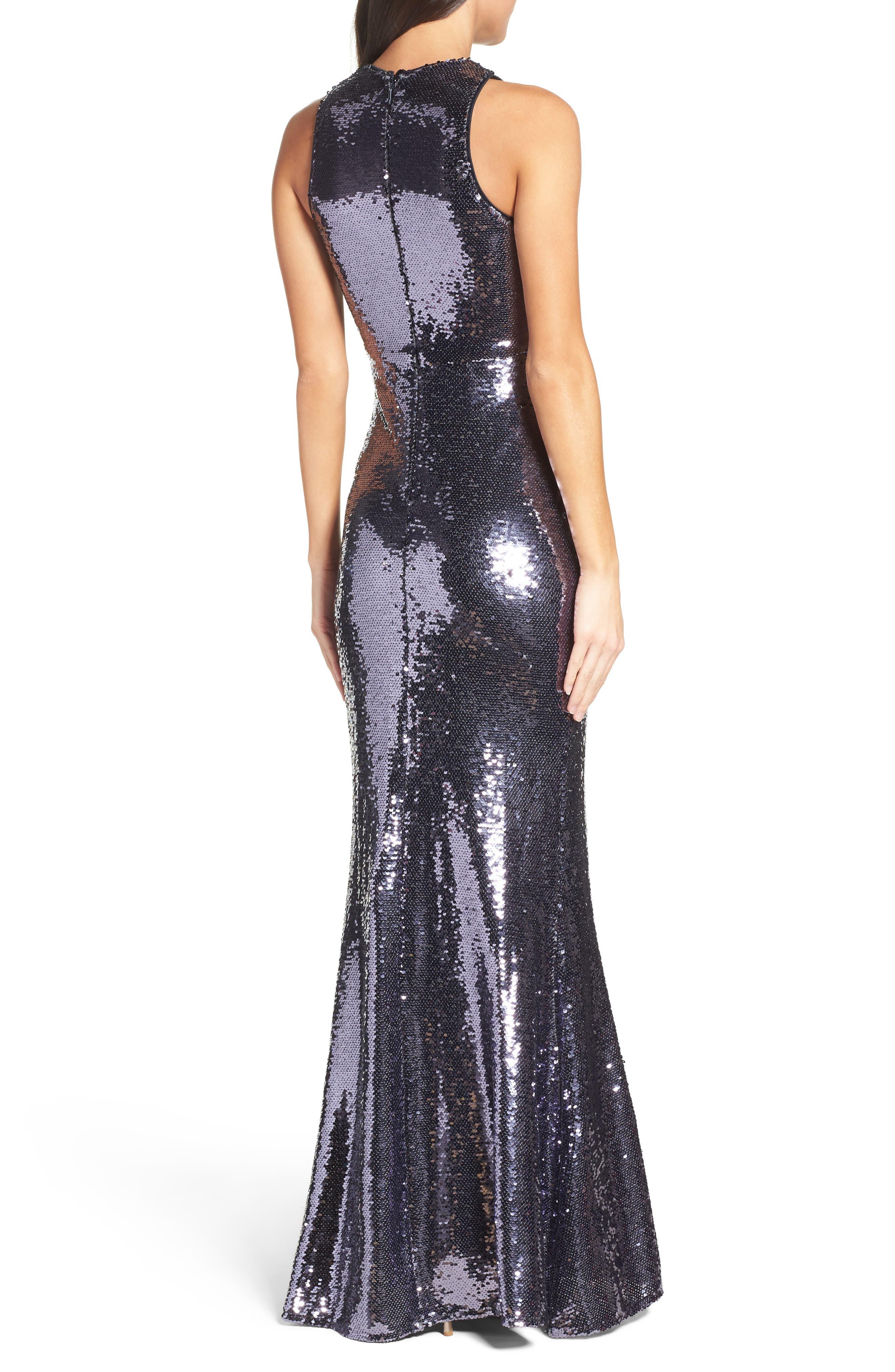 Sequin Mermaid Gown,                             Alternate thumbnail 2, color,                             040