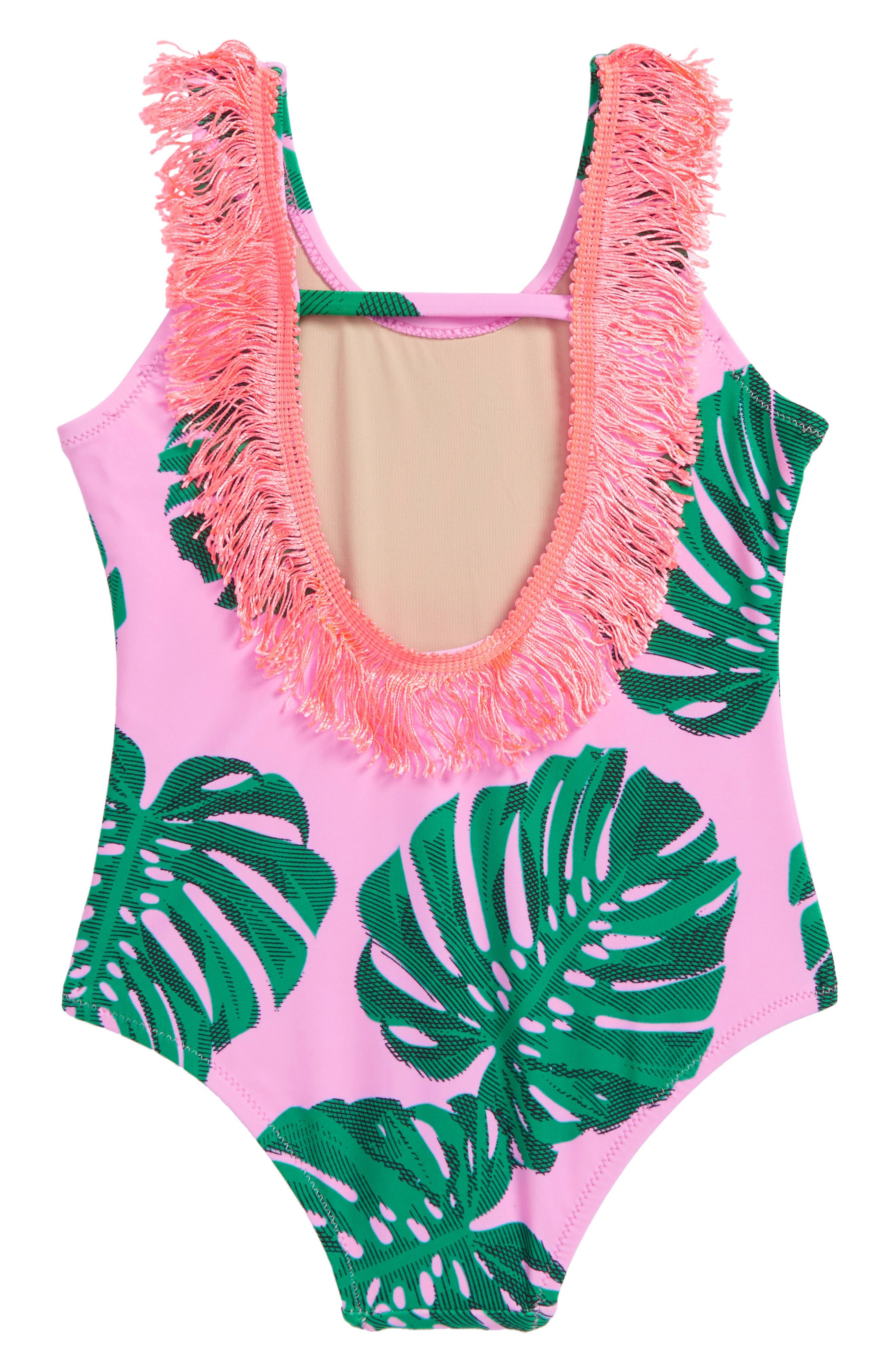 Scoop Back Fringe One-Piece Swimsuit,                             Alternate thumbnail 2, color,                             650
