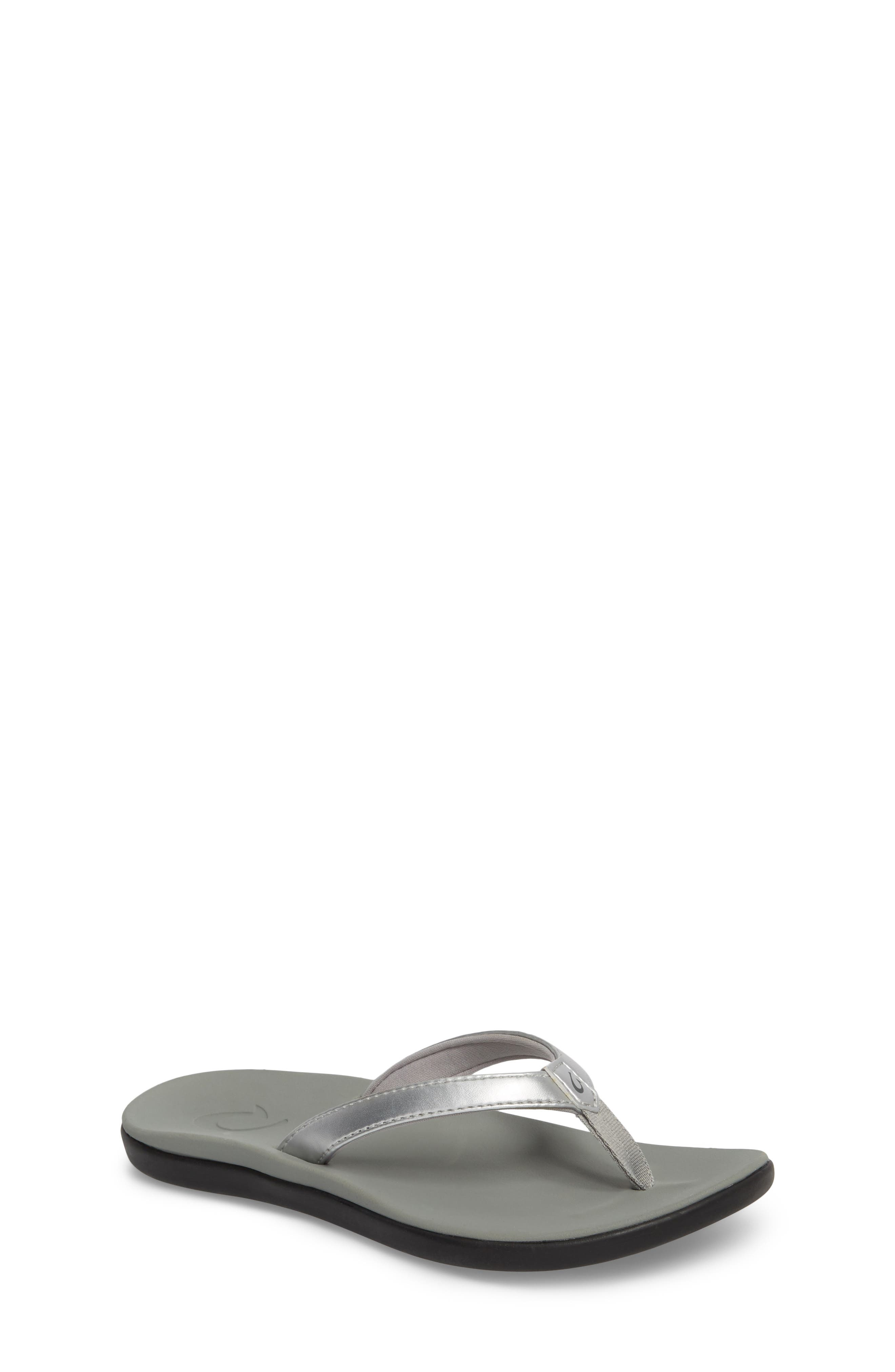 Ho'opio Flip Flop,                             Main thumbnail 1, color,                             SILVER STAR/ PALE GREY