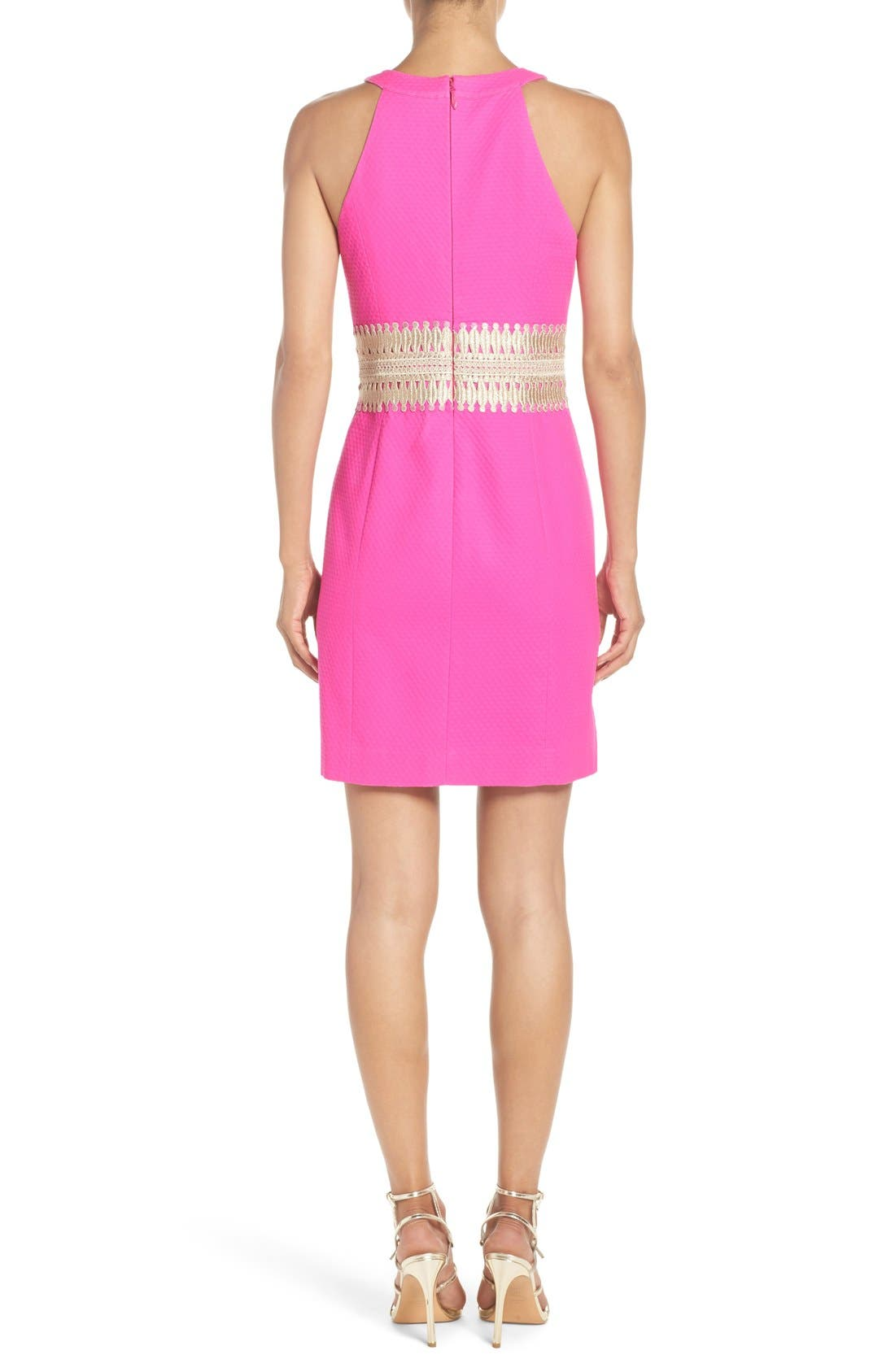 LILLY PULITZER<SUP>®</SUP>,                             'Ashlyn' Lace Waist Shift Dress,                             Alternate thumbnail 4, color,                             652