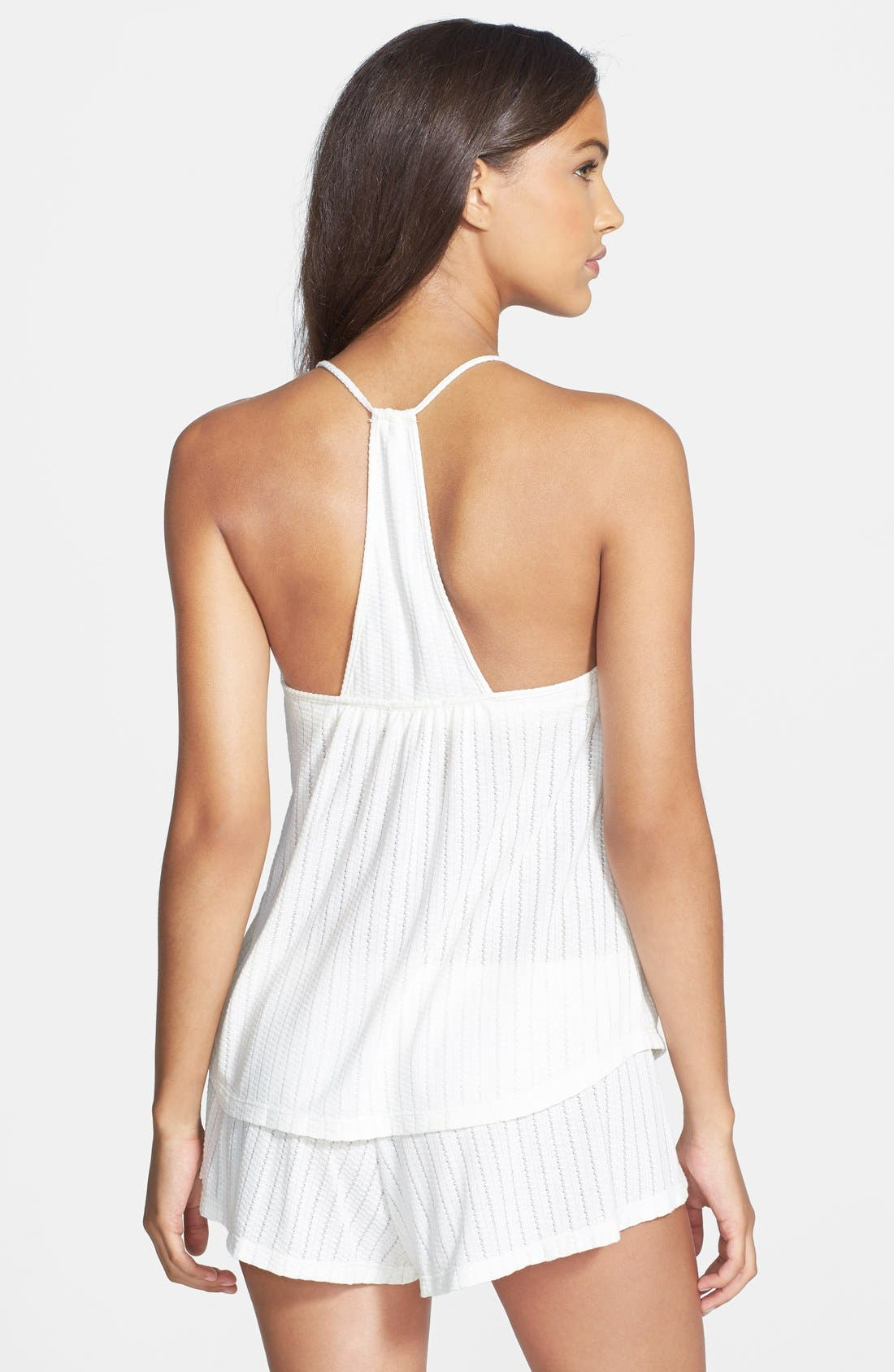 'Baxter' T-Back Camisole,                             Alternate thumbnail 3, color,                             100
