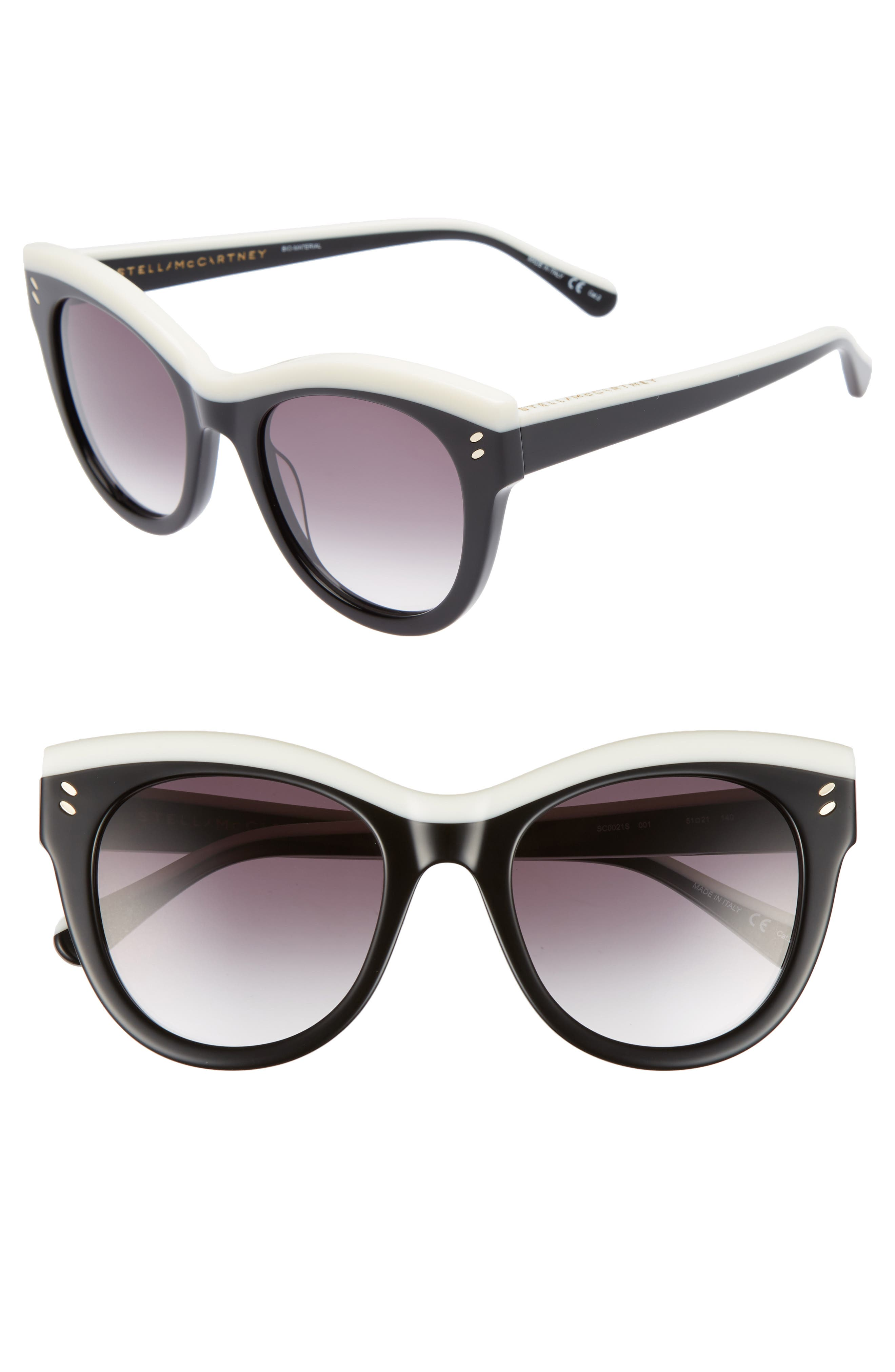 51mm Cat Eye Sunglasses,                             Main thumbnail 1, color,