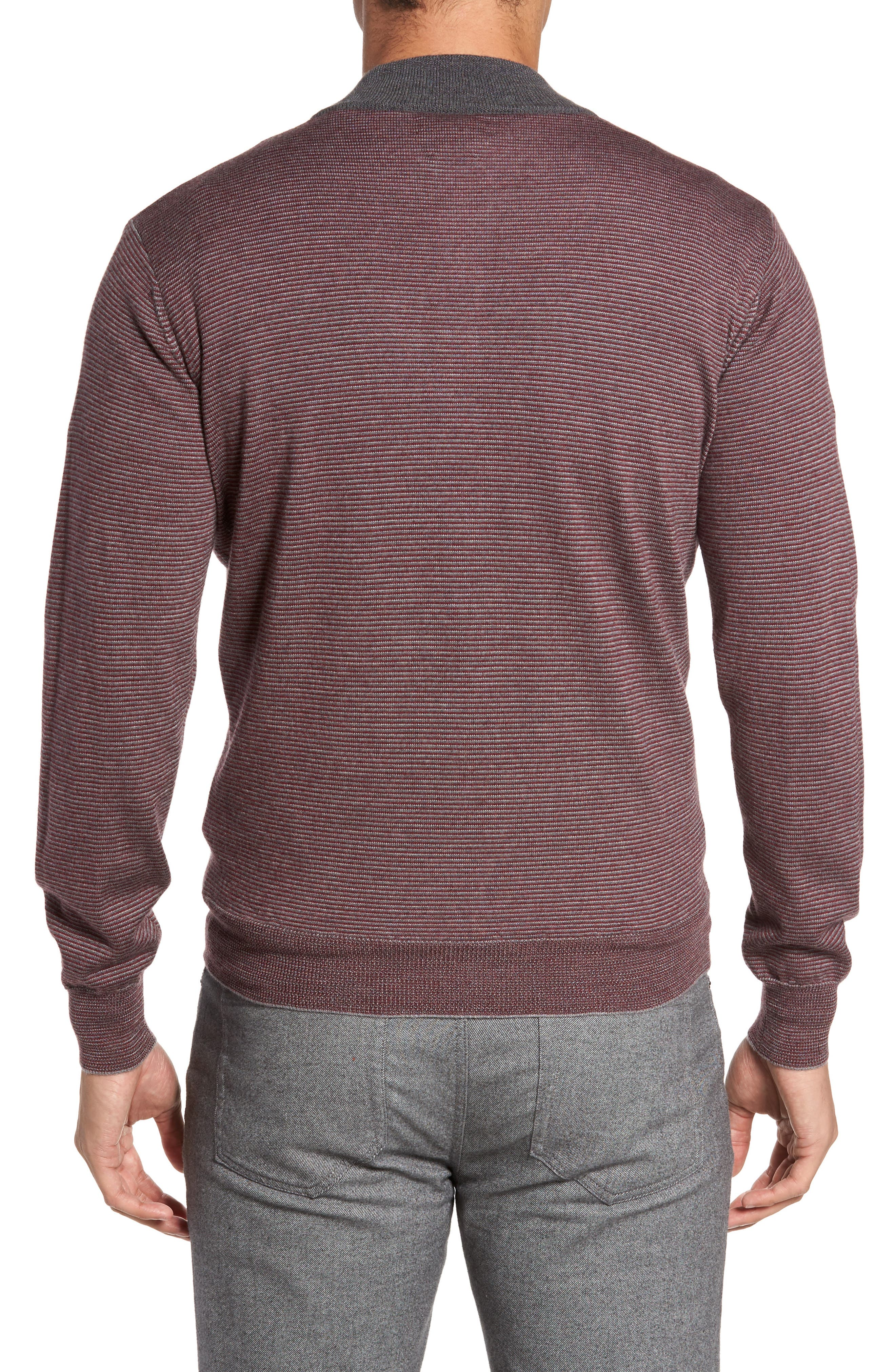 Trichrome Stripe Merino Wool Blend Sweater,                             Alternate thumbnail 2, color,                             930