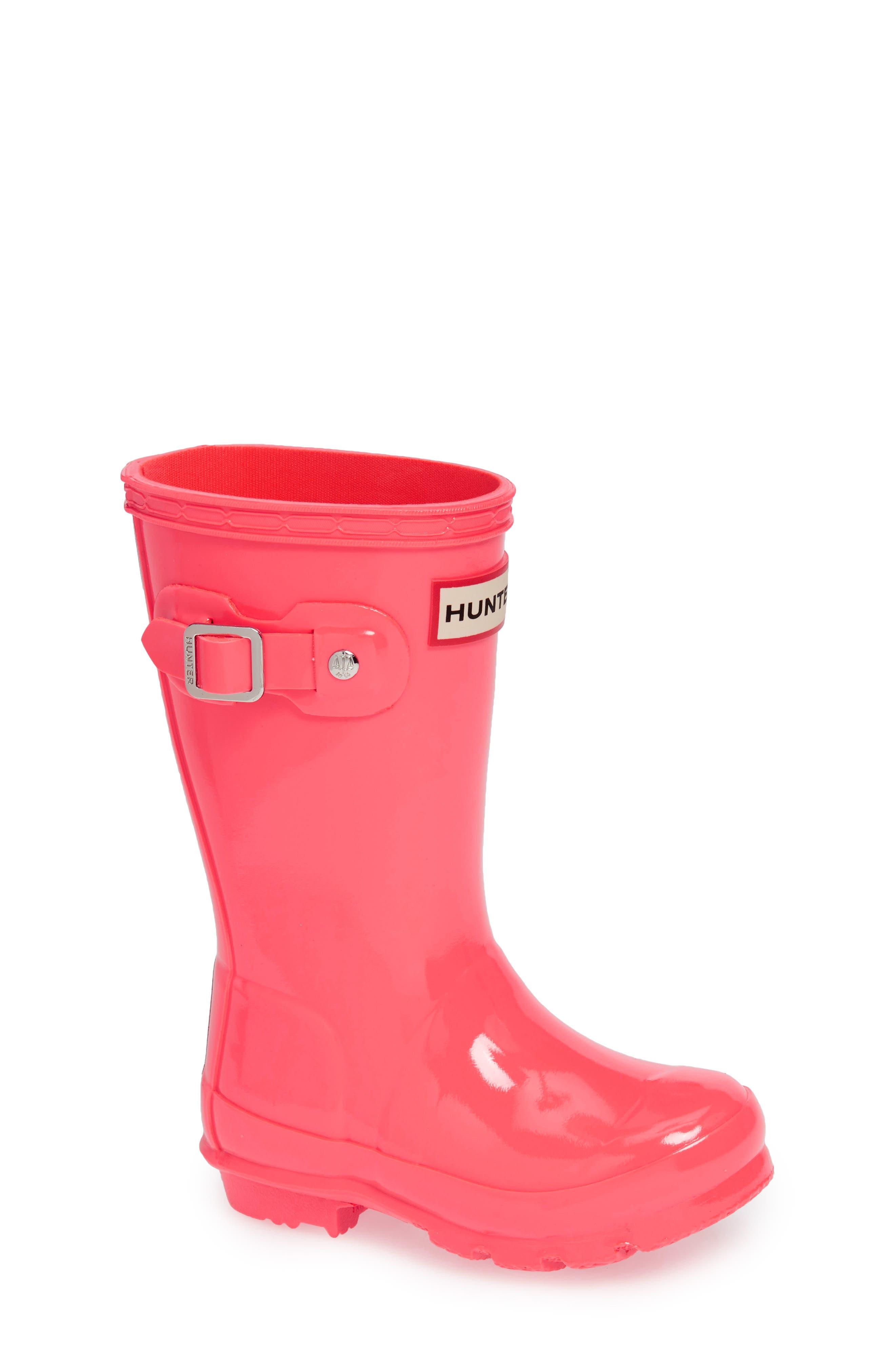 Original Gloss Rain Boot,                         Main,                         color, HYPER PINK