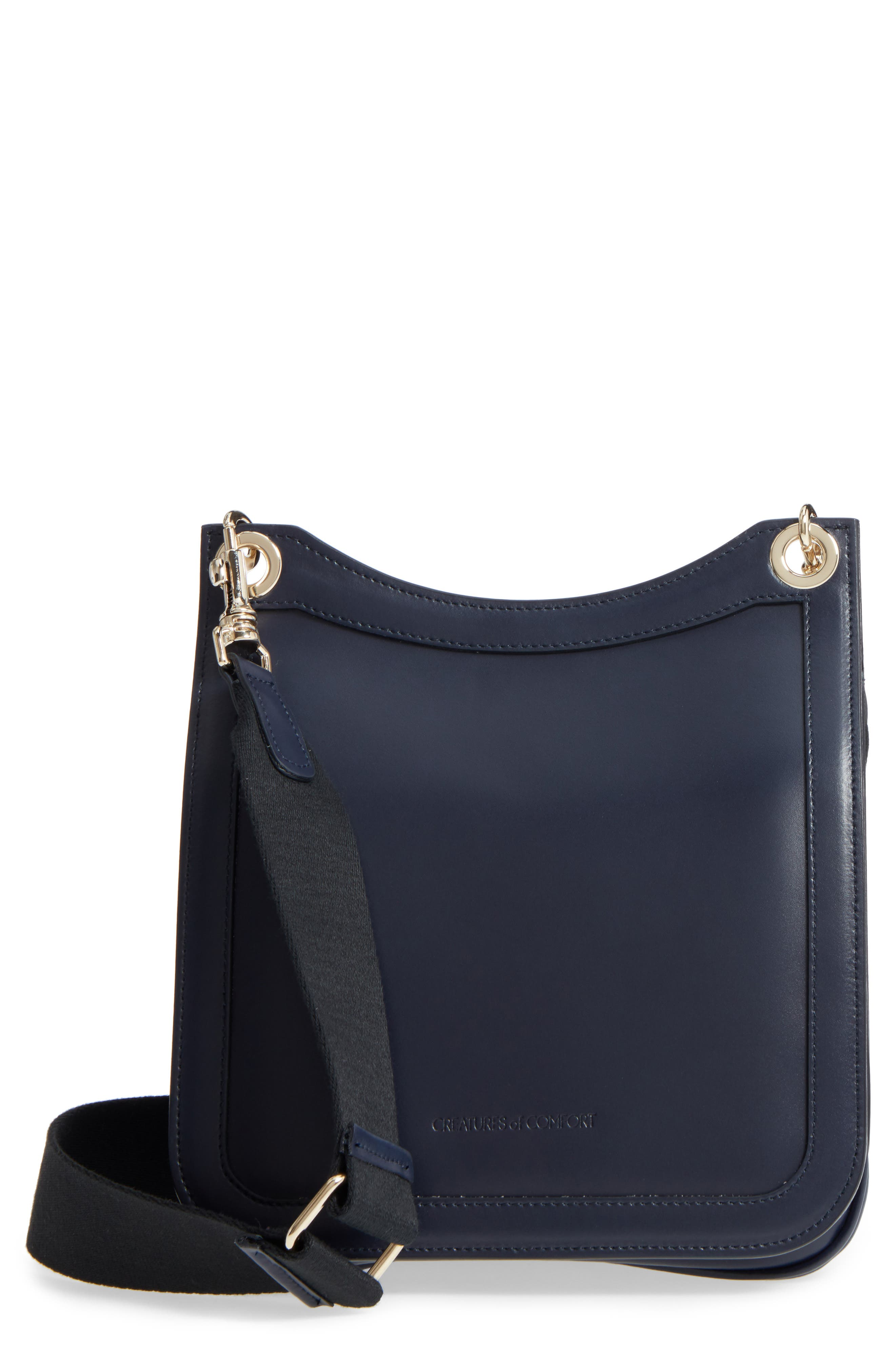 Leather Equestrian Crossbody Bag,                         Main,                         color, 400