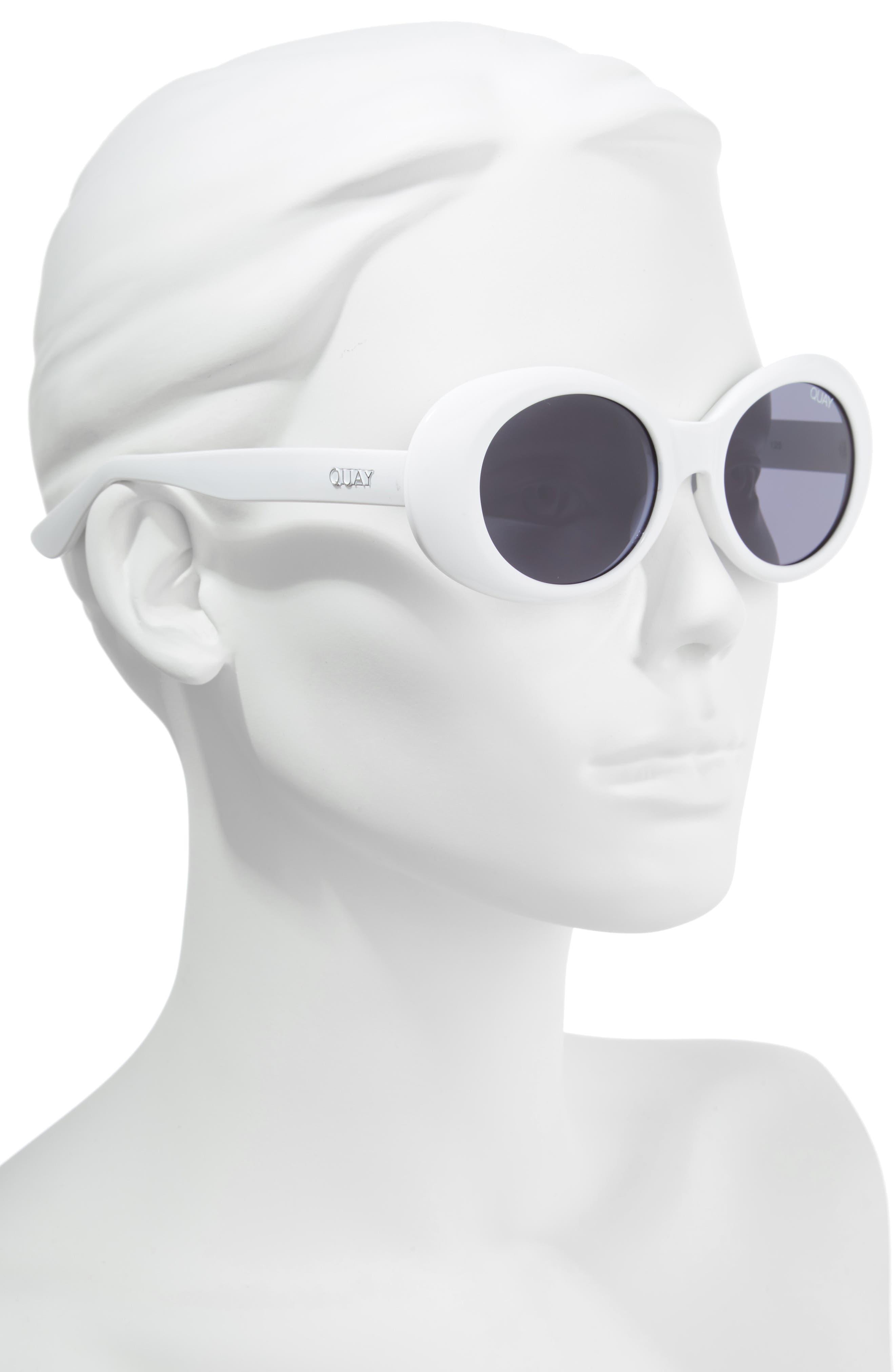 Frivolous 50mm Oval Sunglasses,                             Alternate thumbnail 2, color,                             100