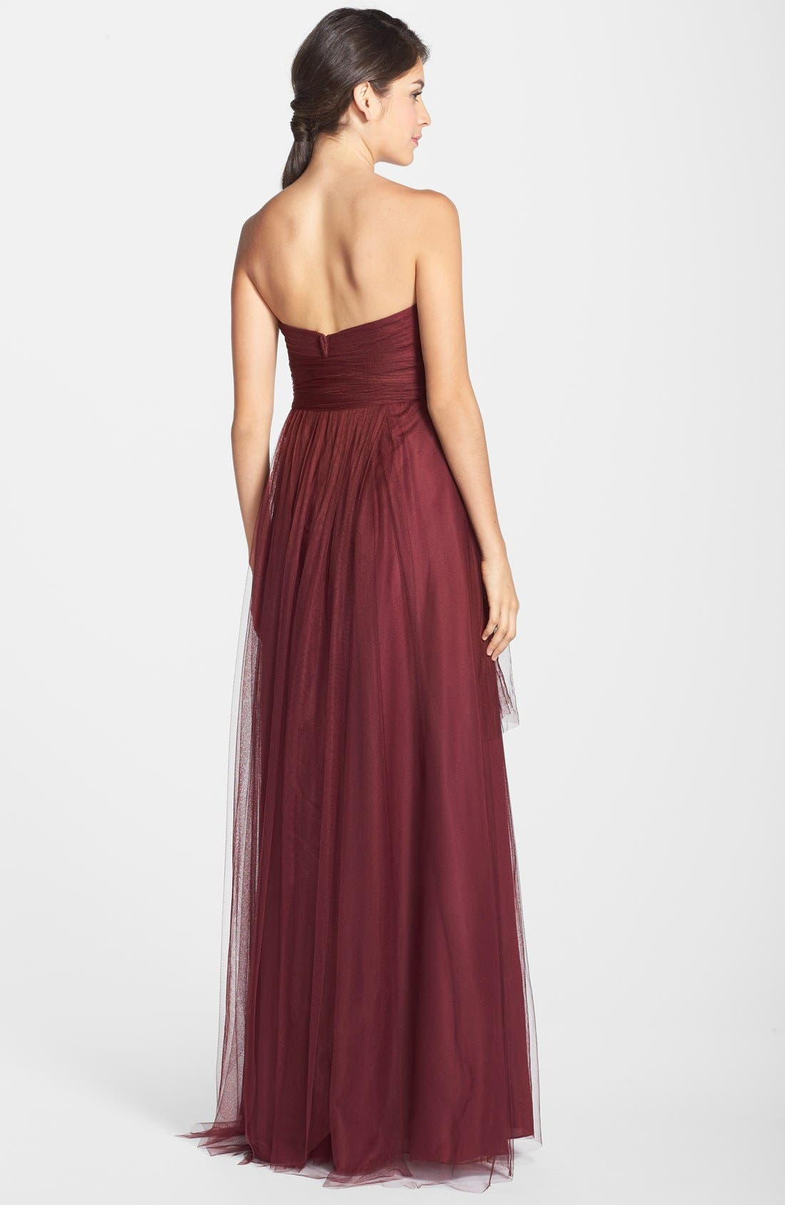 Annabelle Convertible Tulle Column Dress,                             Alternate thumbnail 64, color,