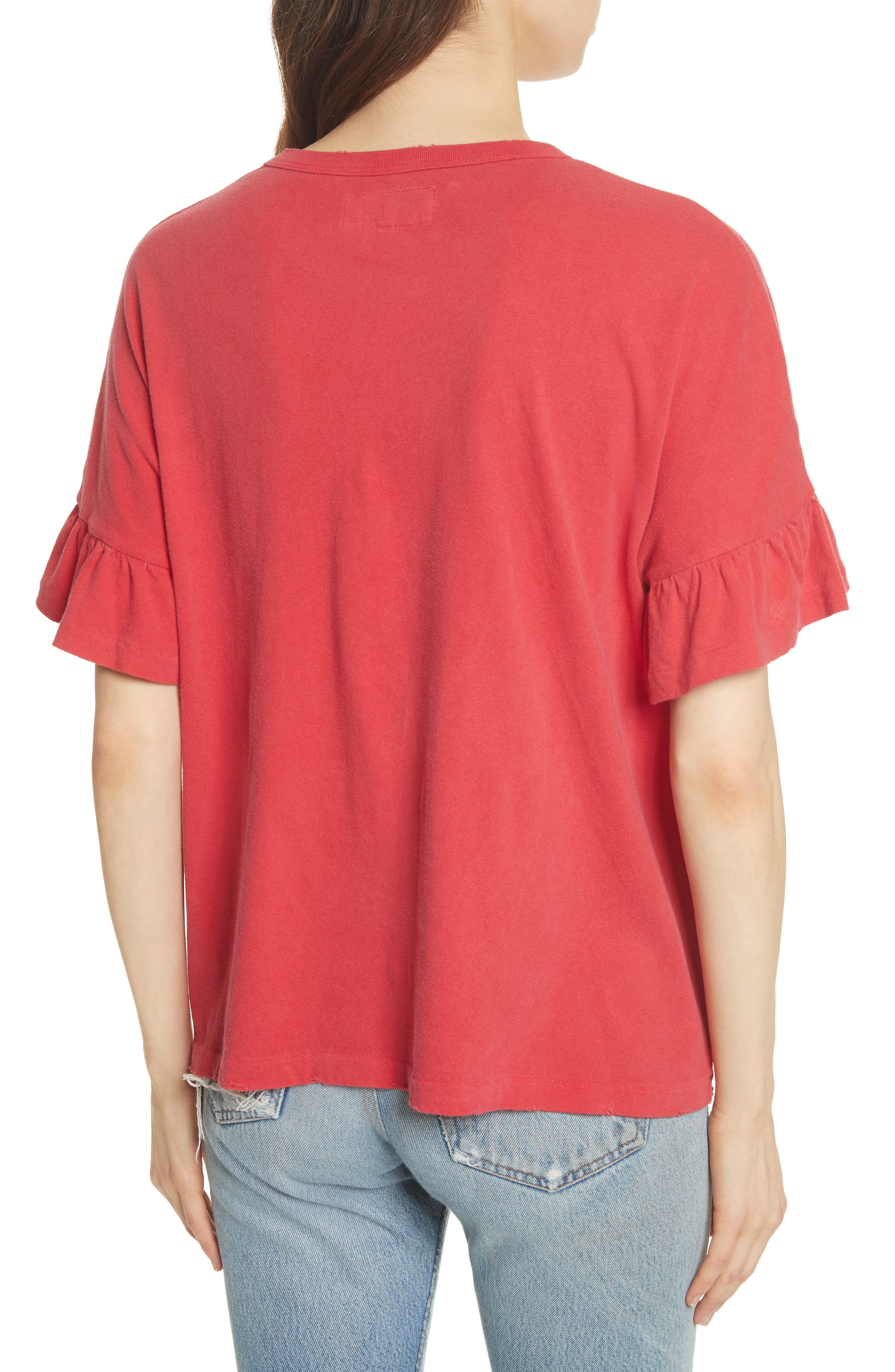 The Ruffle Sleeve Tee,                             Alternate thumbnail 2, color,                             600