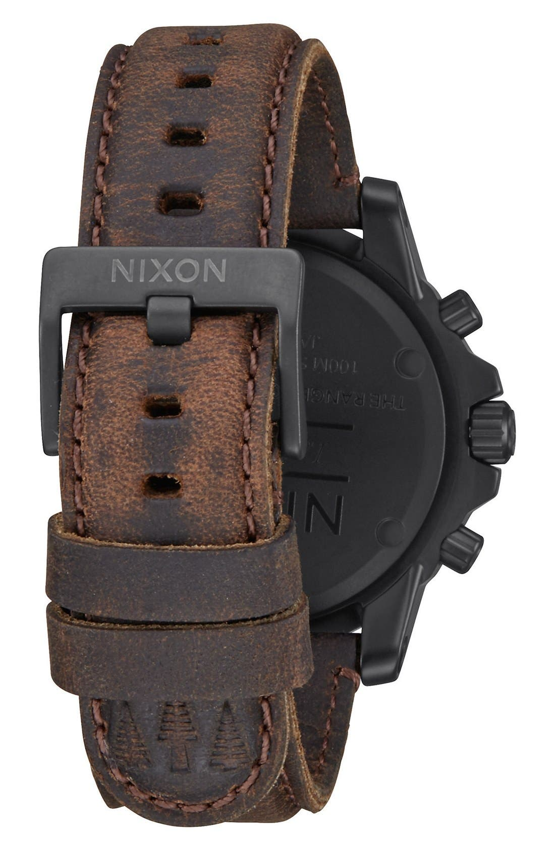 'The Ranger' Chronograph Leather Strap Watch, 44mm,                             Alternate thumbnail 7, color,