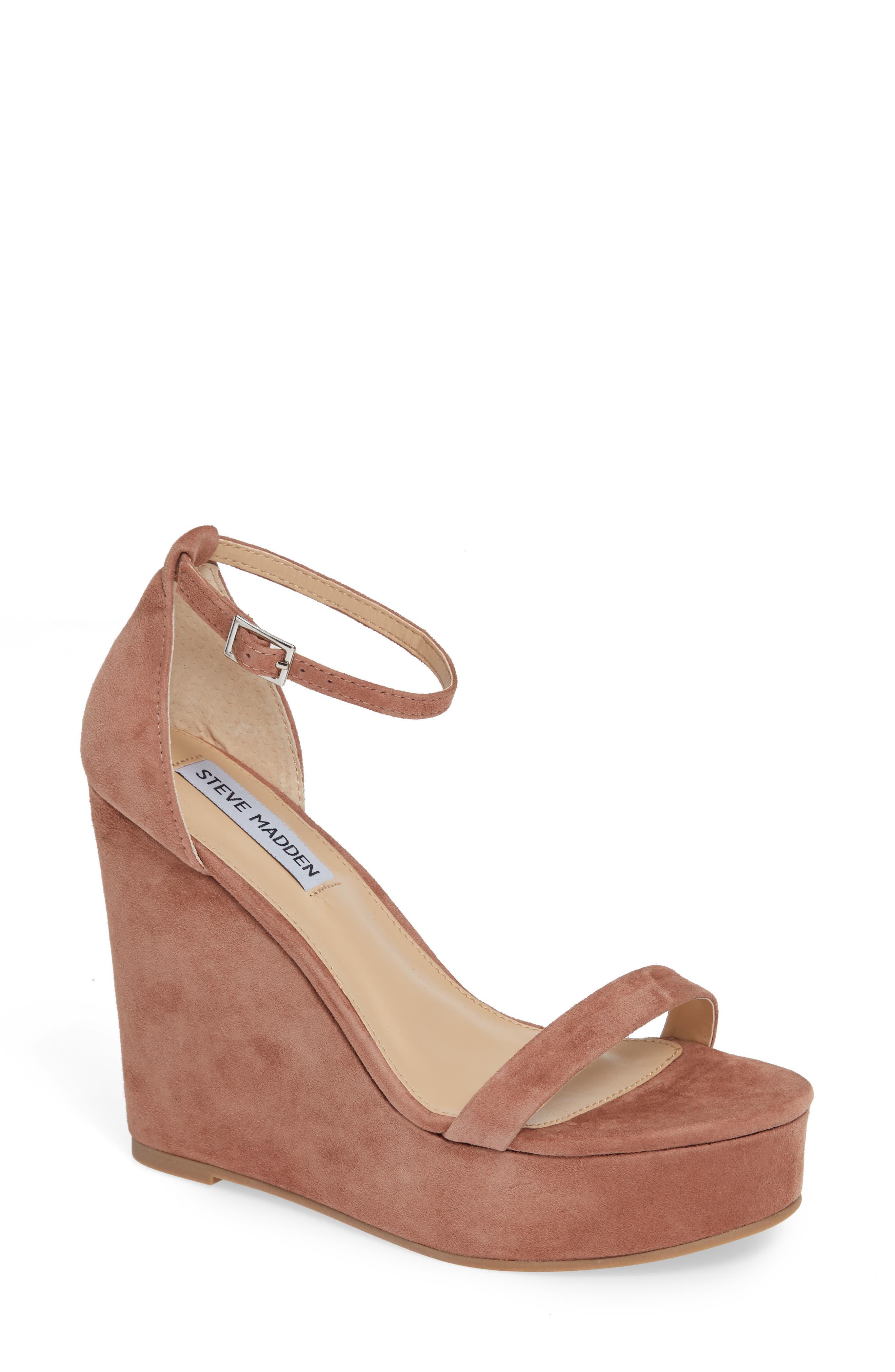 Succeed Platform Wedge Sandal,                         Main,                         color, TAN SUEDE