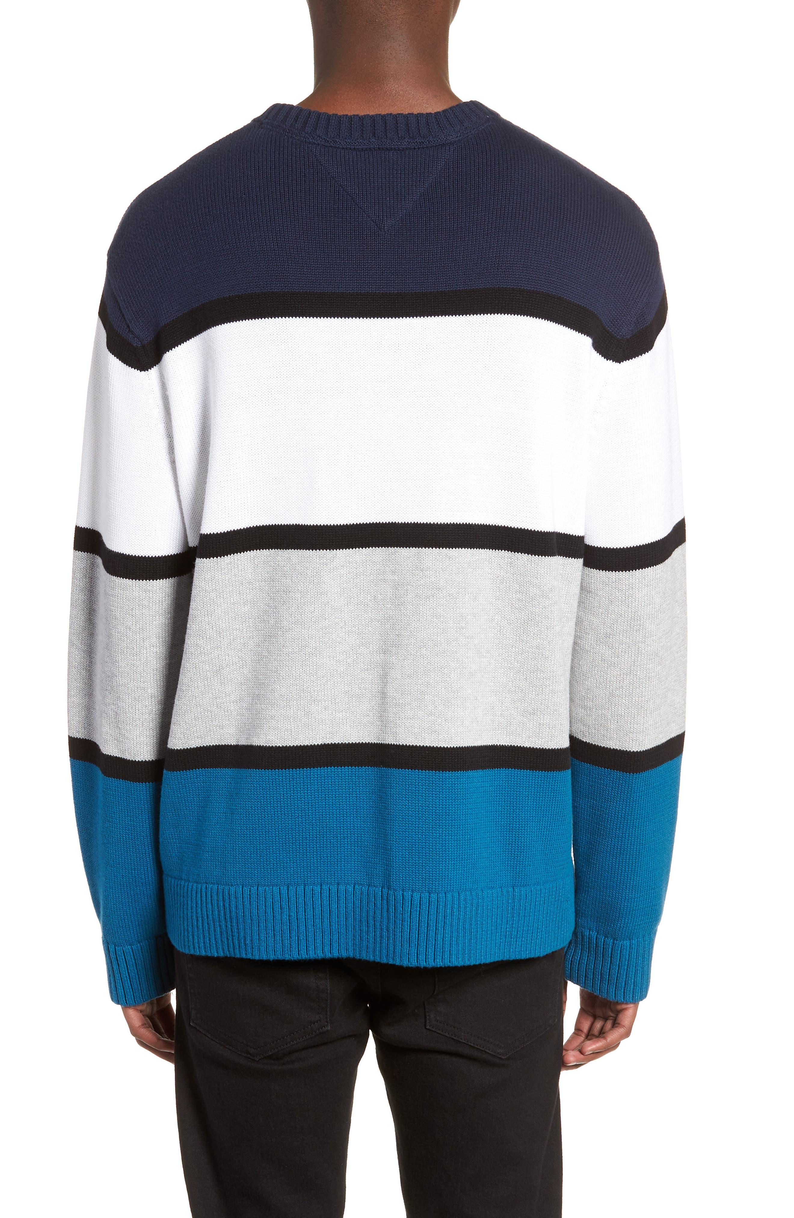 Retro Colorblock Sweater,                             Alternate thumbnail 2, color,                             400