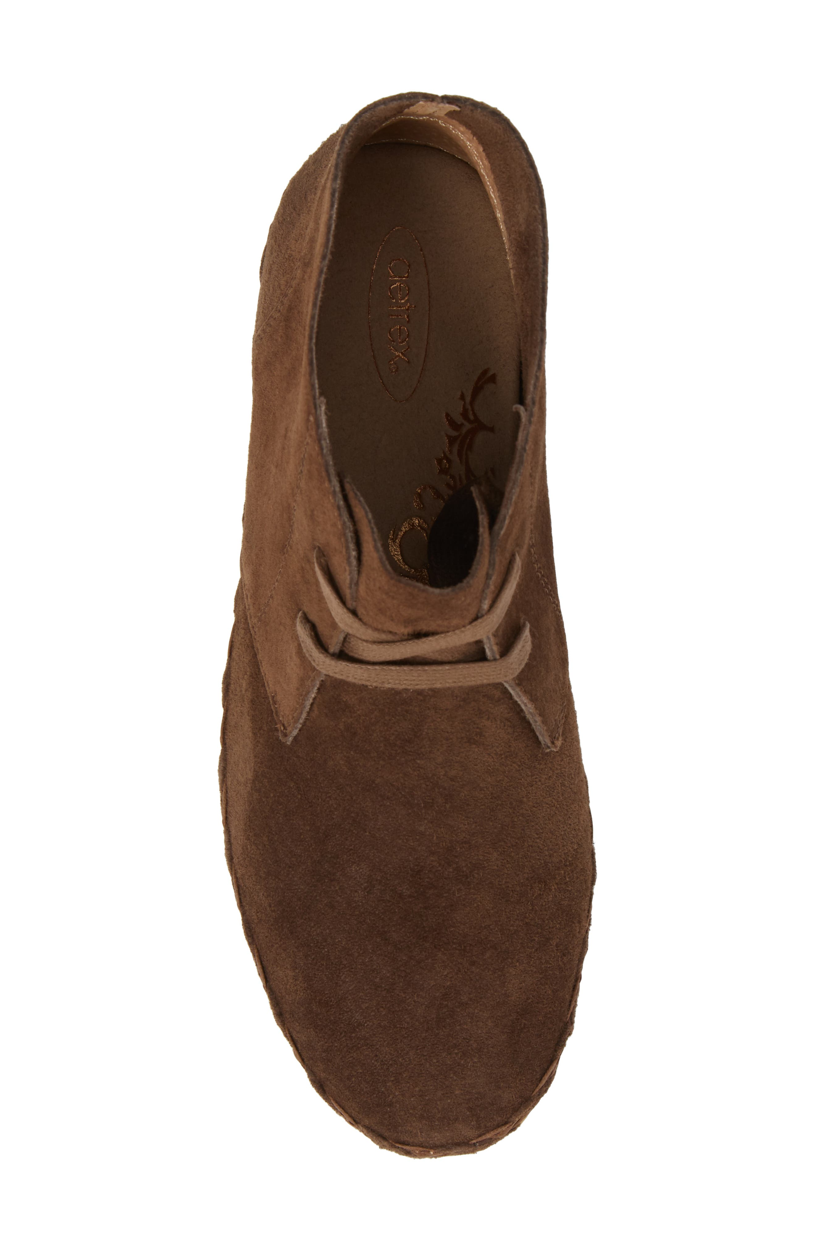 Addison Bootie,                             Alternate thumbnail 5, color,                             BROWN SUEDE