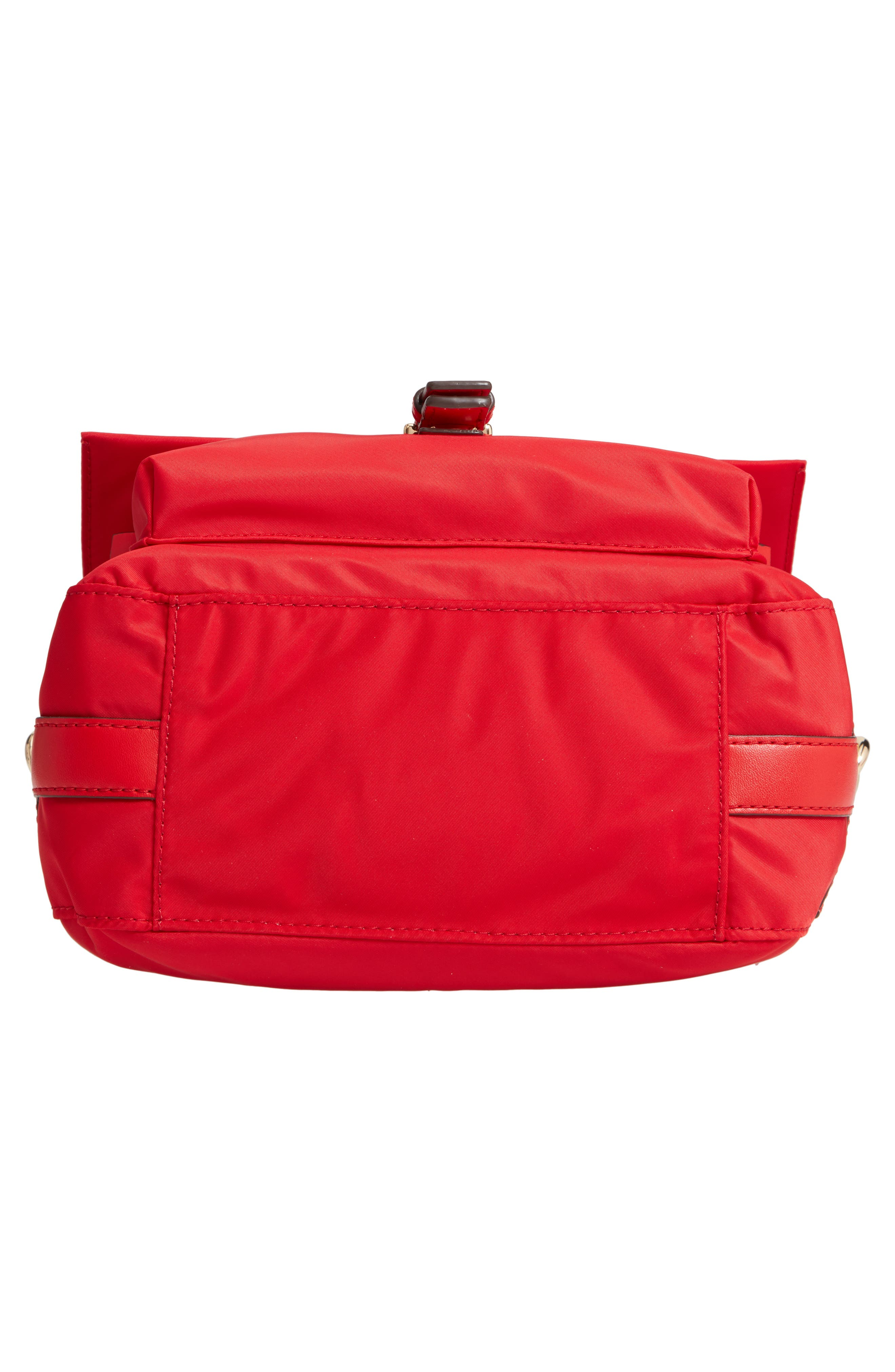 Tilda Nylon Crossbody Bag,                             Alternate thumbnail 7, color,                             BRILLIANT RED