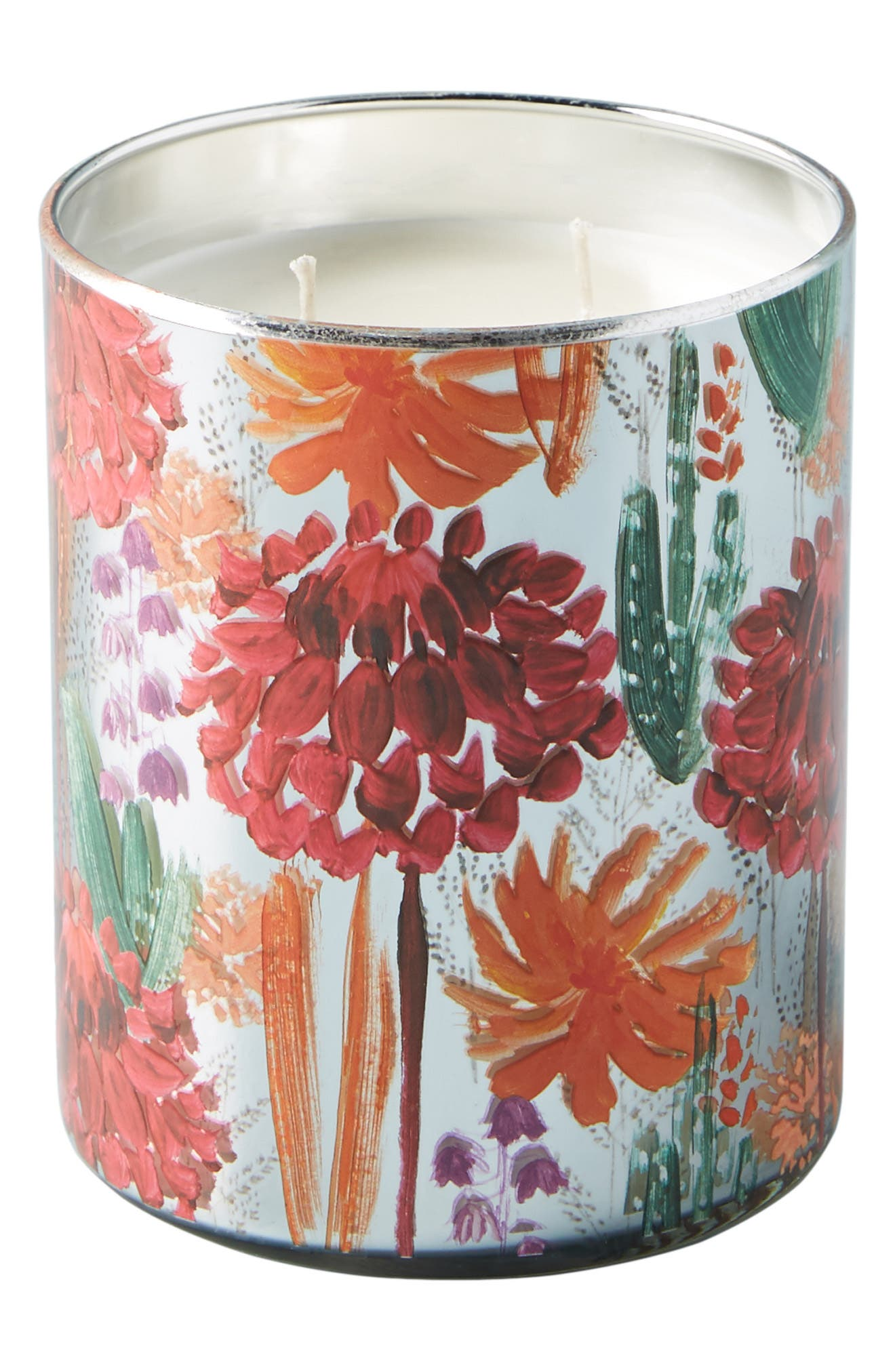 Radcliffe Large Scented Candle,                             Alternate thumbnail 4, color,                             PINK - DAHLIA PLUM SCENT