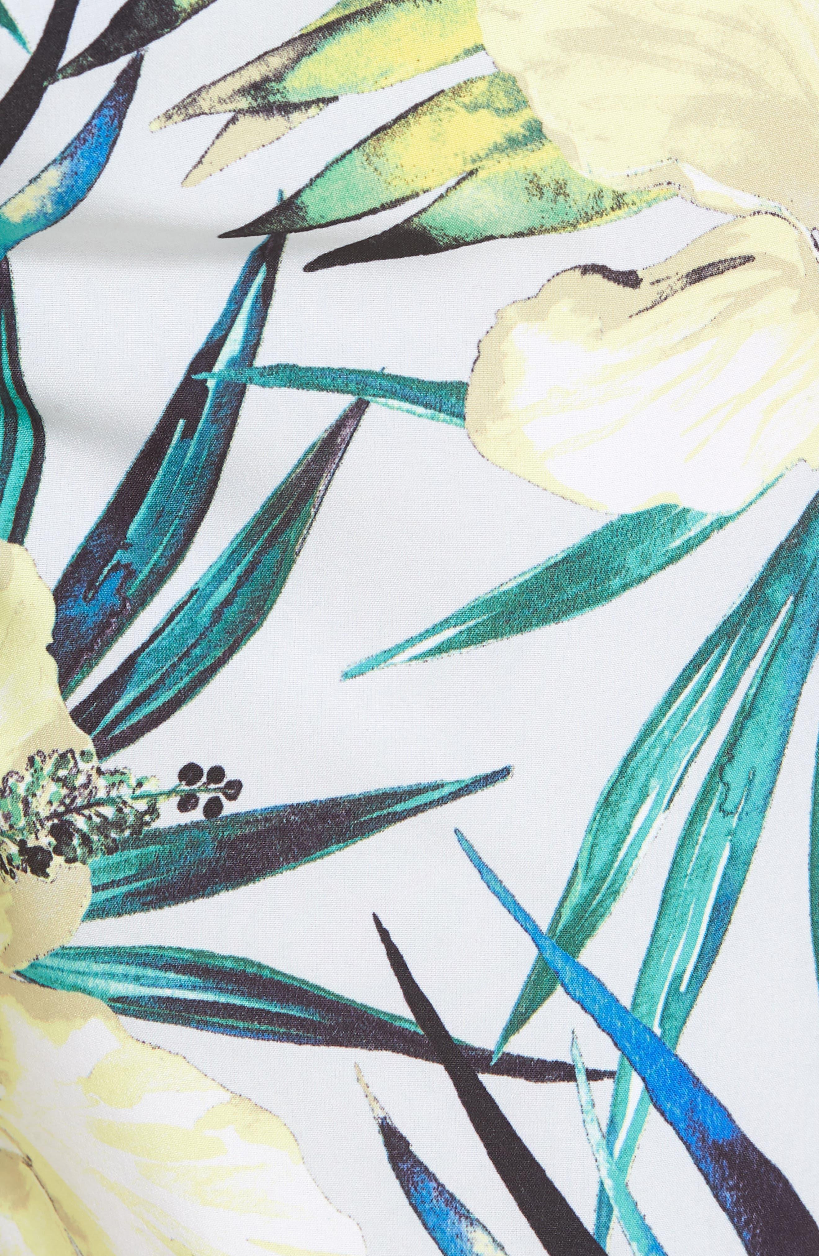Phantom Garden Board Shorts,                             Alternate thumbnail 5, color,                             PURE PLATINUM
