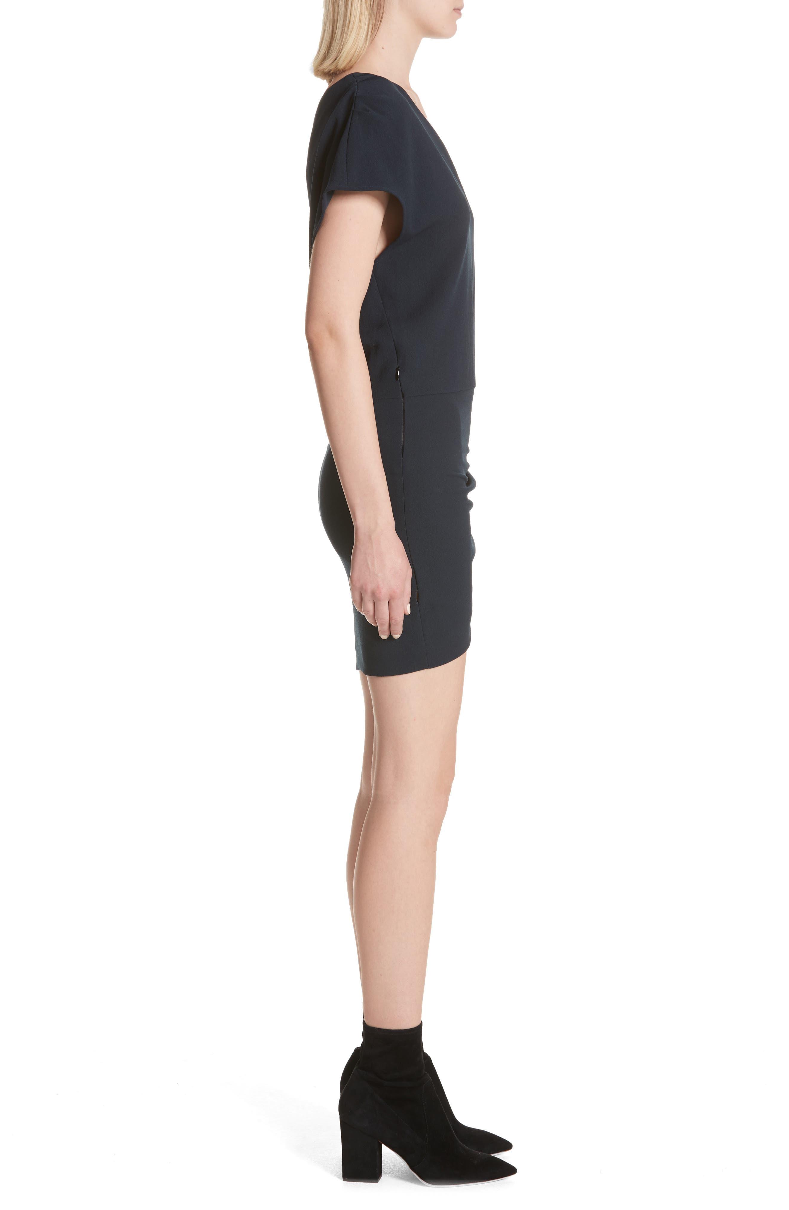 Davov One-Shoulder Envelope Hem Dress,                             Alternate thumbnail 6, color,