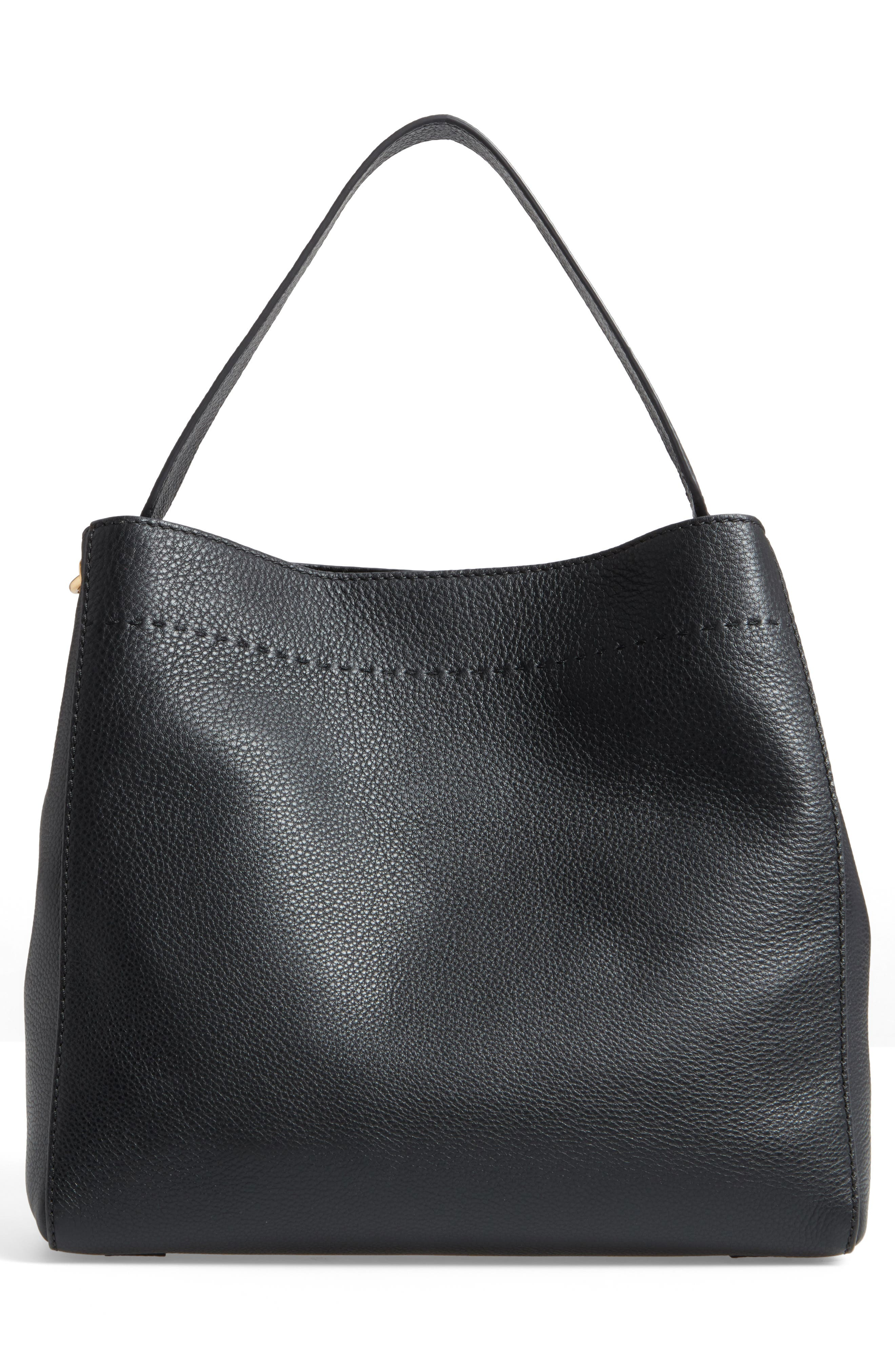 McGraw Leather Hobo,                             Alternate thumbnail 3, color,                             BLACK