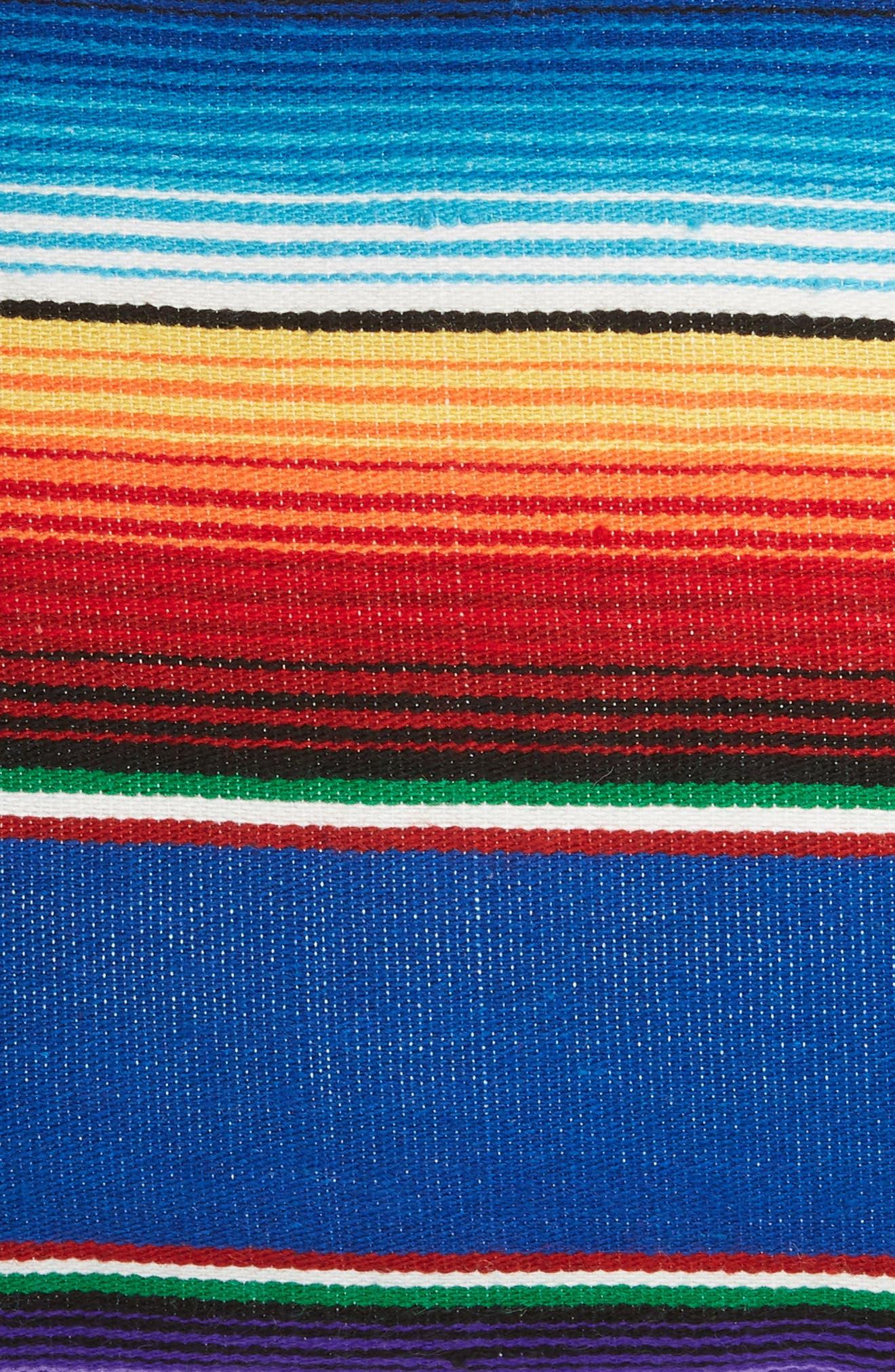 Small Salito Serape Square Accent Pillow,                             Alternate thumbnail 3, color,                             BLUE/ AZULE