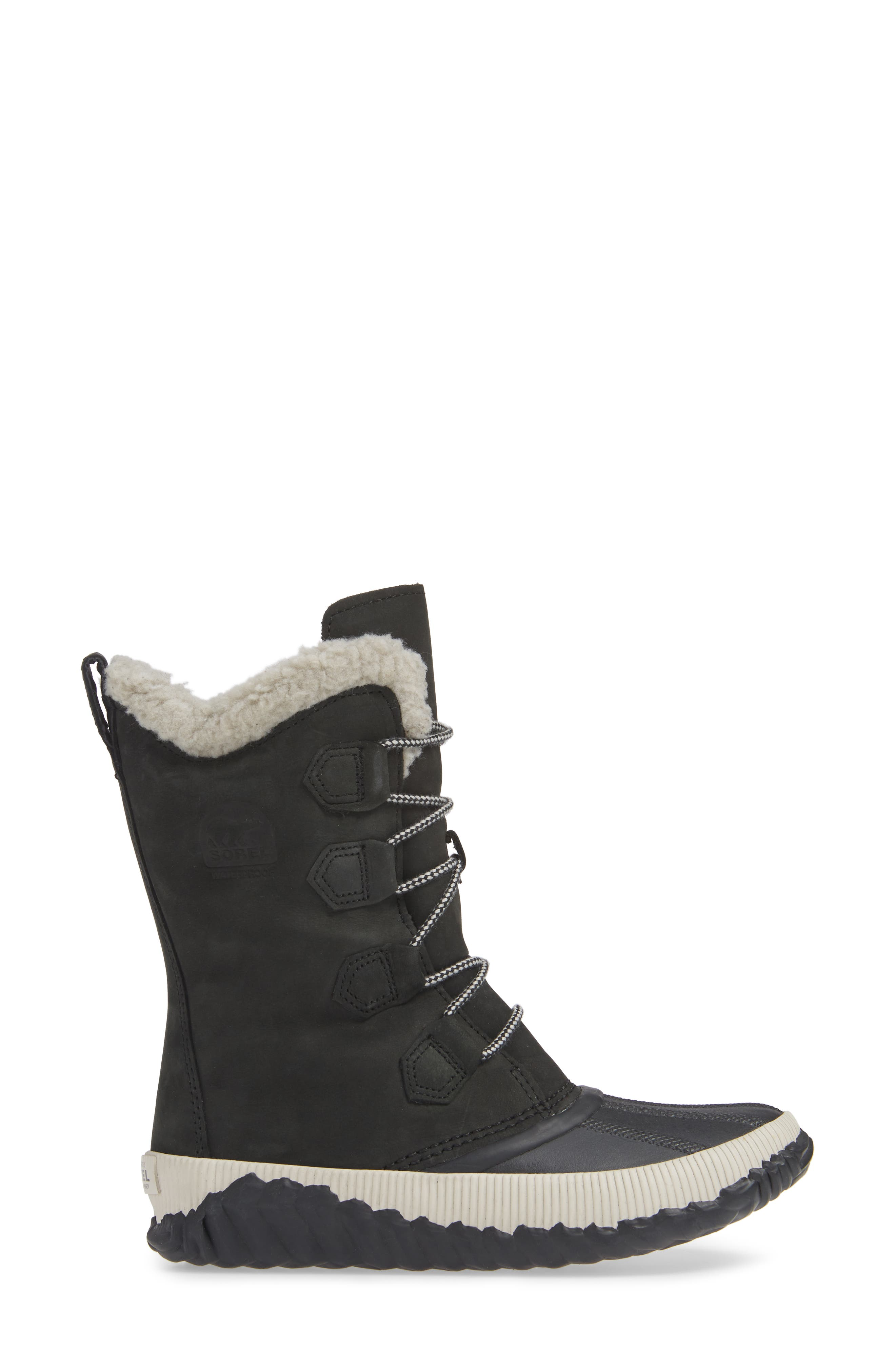 Out N About Plus Tall Waterproof Boot,                             Alternate thumbnail 3, color,                             BLACK