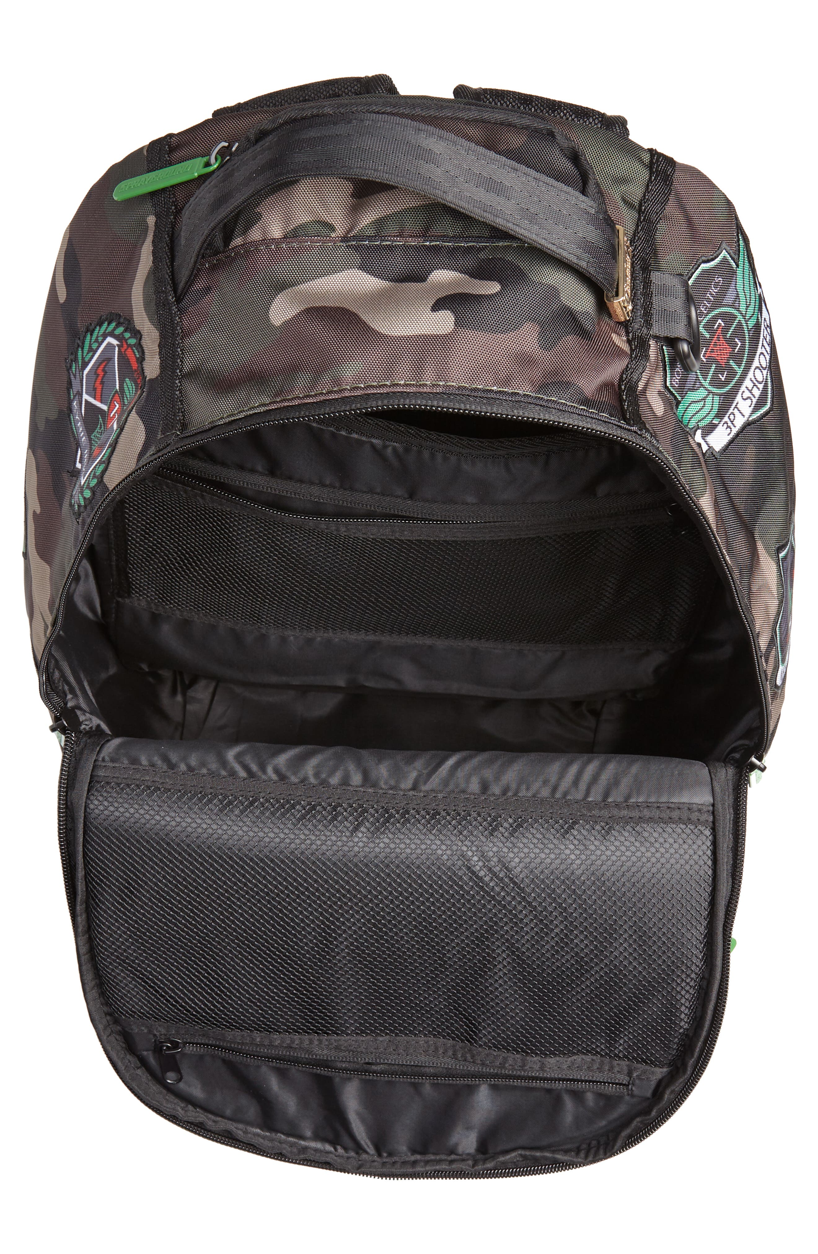 Kyrie Camo Backpack,                             Alternate thumbnail 4, color,                             CAMO