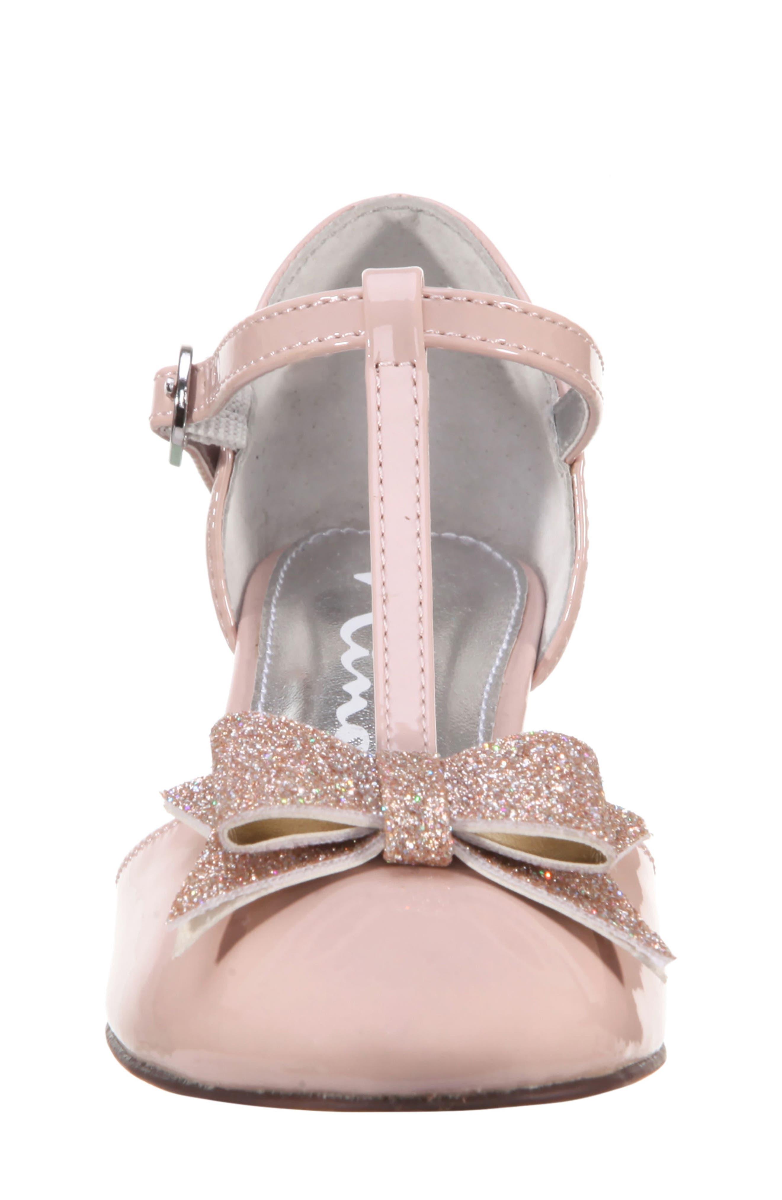 Marvette T-Strap Sandal,                             Alternate thumbnail 4, color,                             BLUSH PATENT