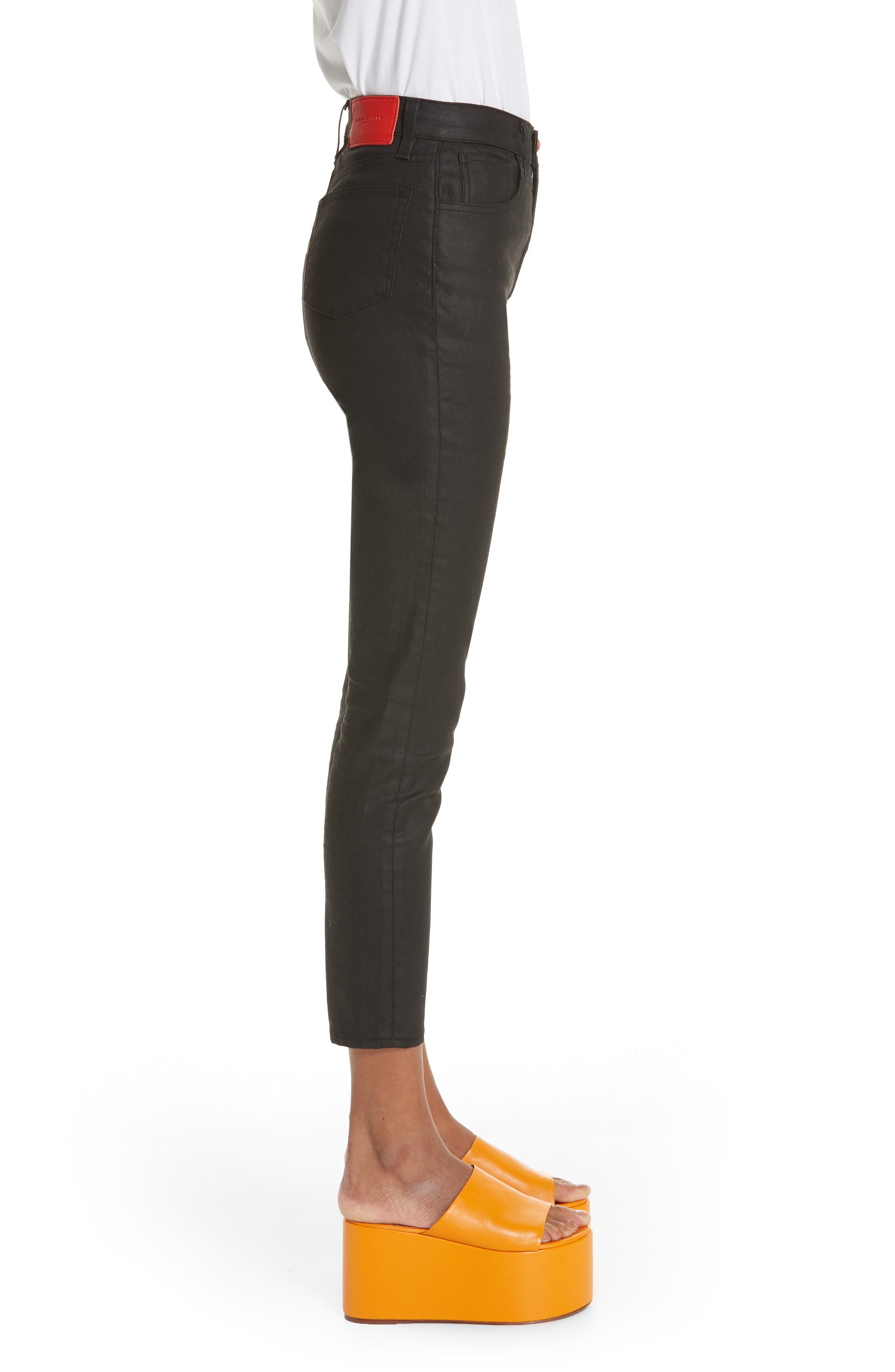x Paramount Grease Coated Skinny Jeans,                             Alternate thumbnail 3, color,                             DANNY BLACK