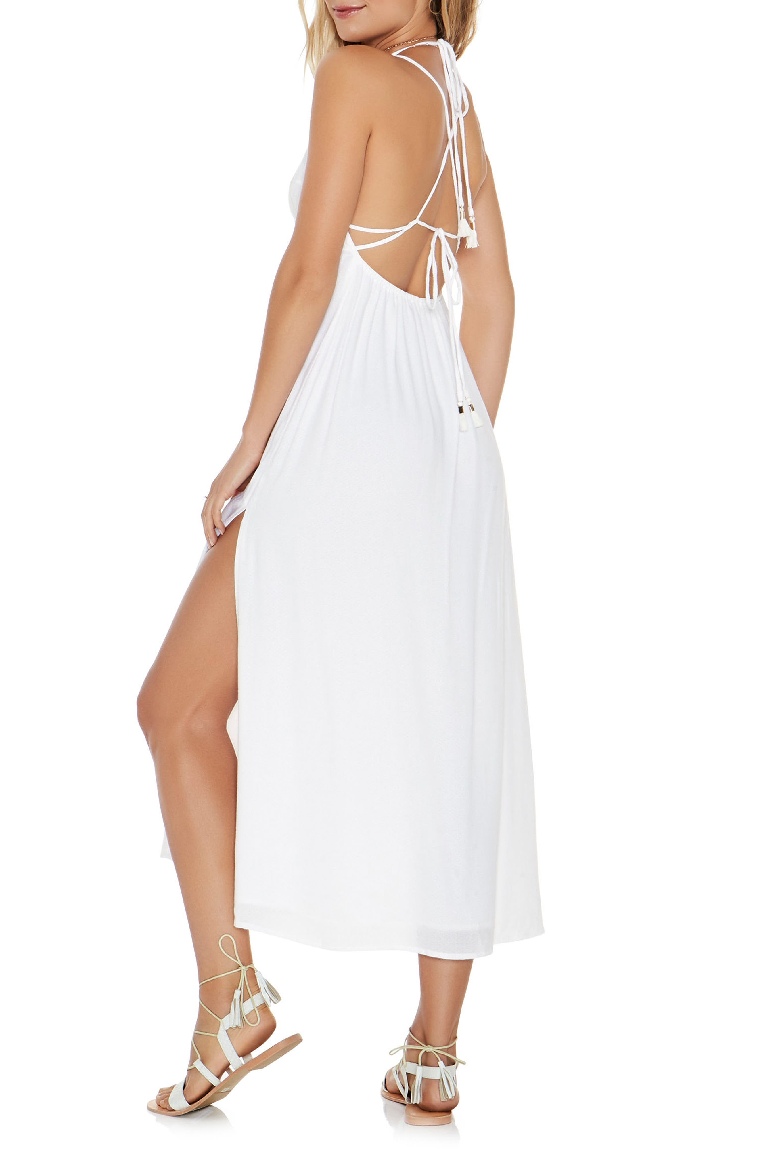 Beachside Beauty Cover-Up Dress,                             Alternate thumbnail 3, color,                             100