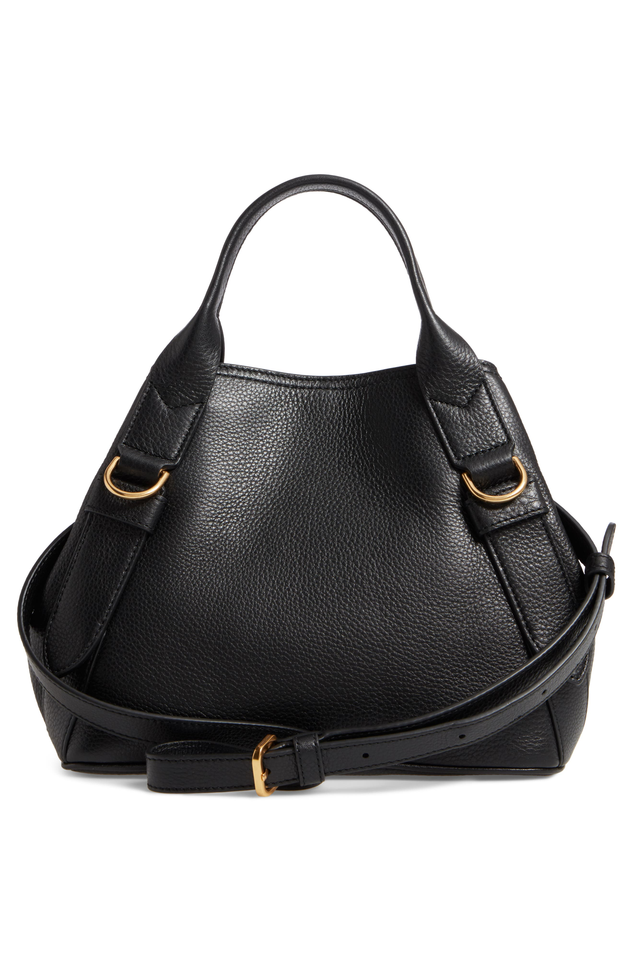 MARC JACOBS,                             The Small Anchor Leather Shoulder Bag,                             Alternate thumbnail 3, color,                             001