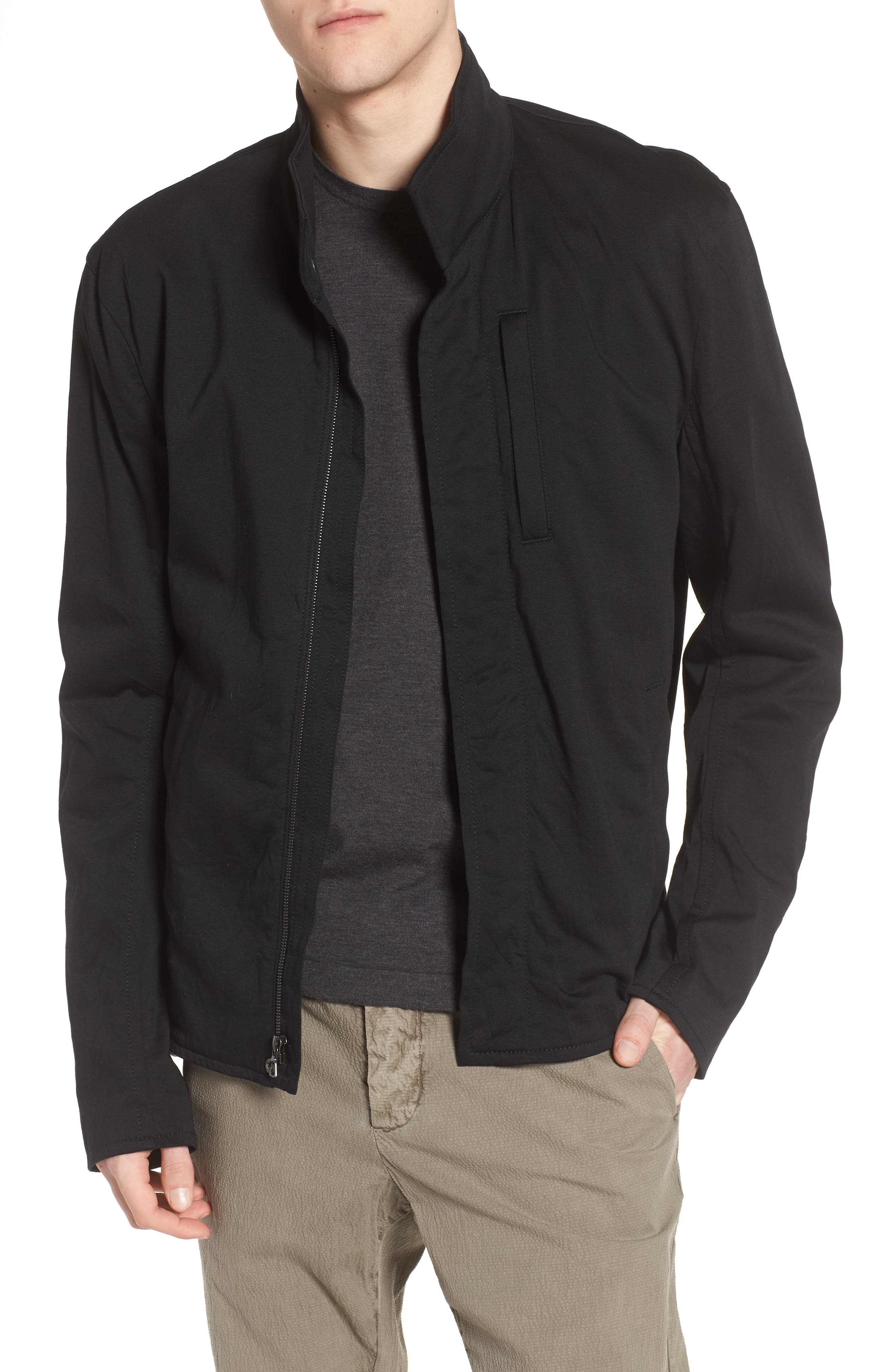 Classic Fit Biker Jacket, Main, color, 001