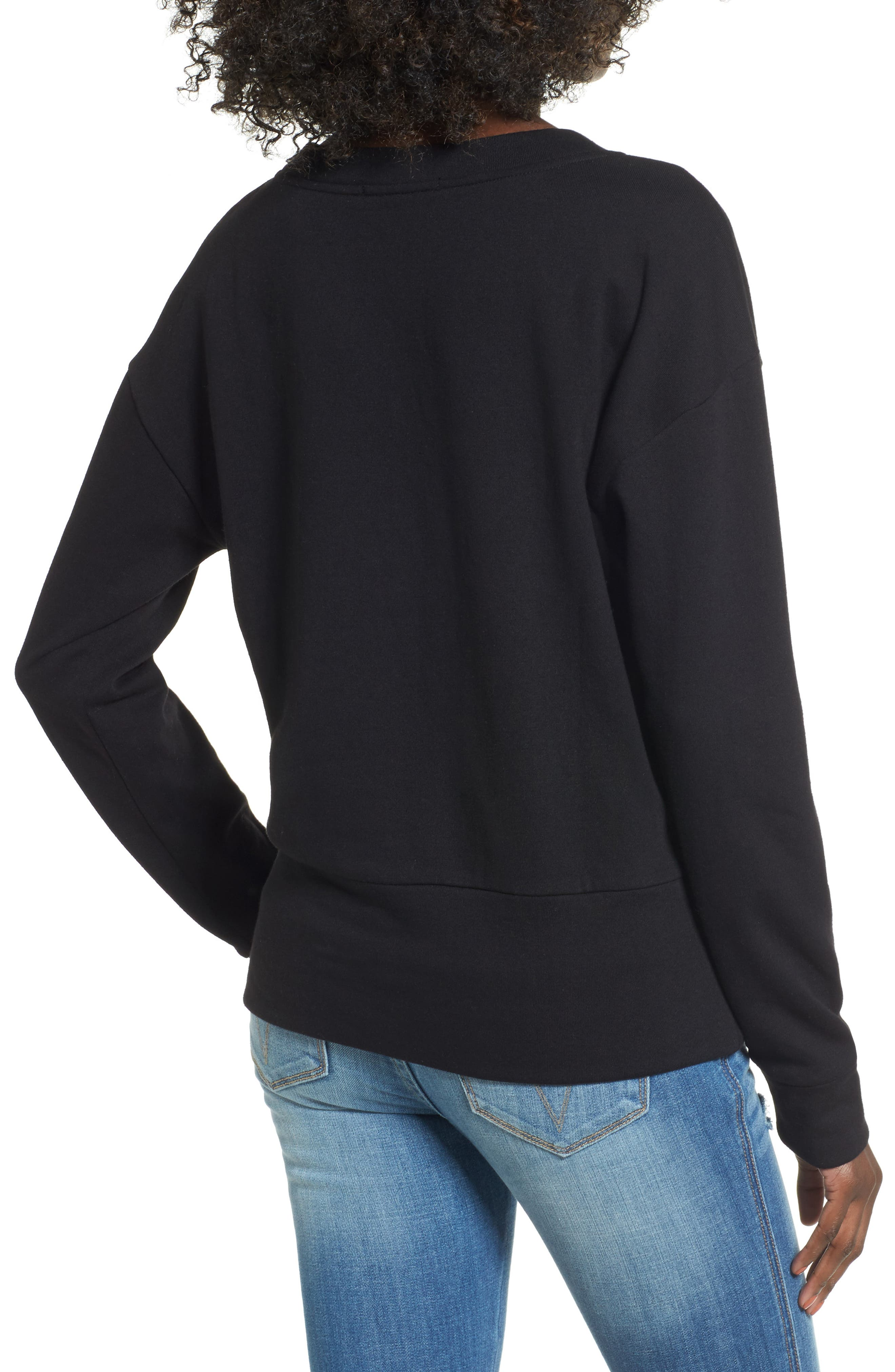 Lace-Up Sweatshirt,                             Alternate thumbnail 2, color,