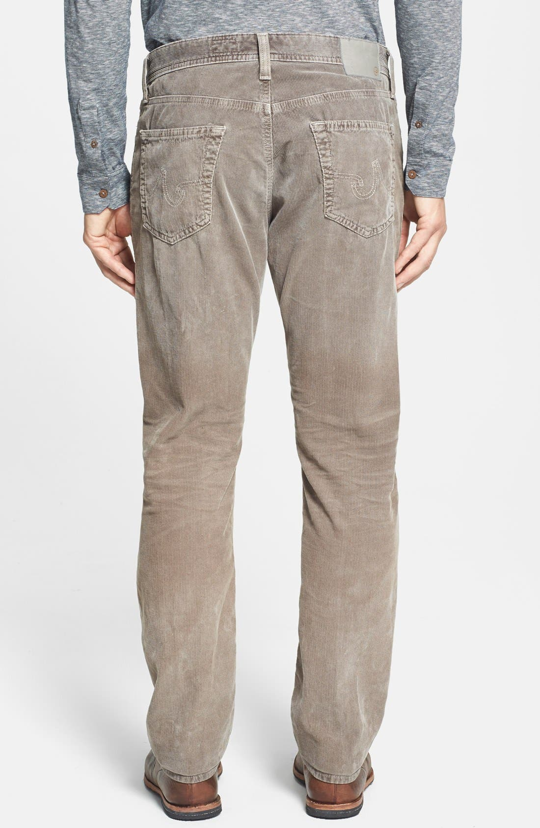 'Graduate' Tailored Straight Leg Corduroy Pants,                             Alternate thumbnail 27, color,