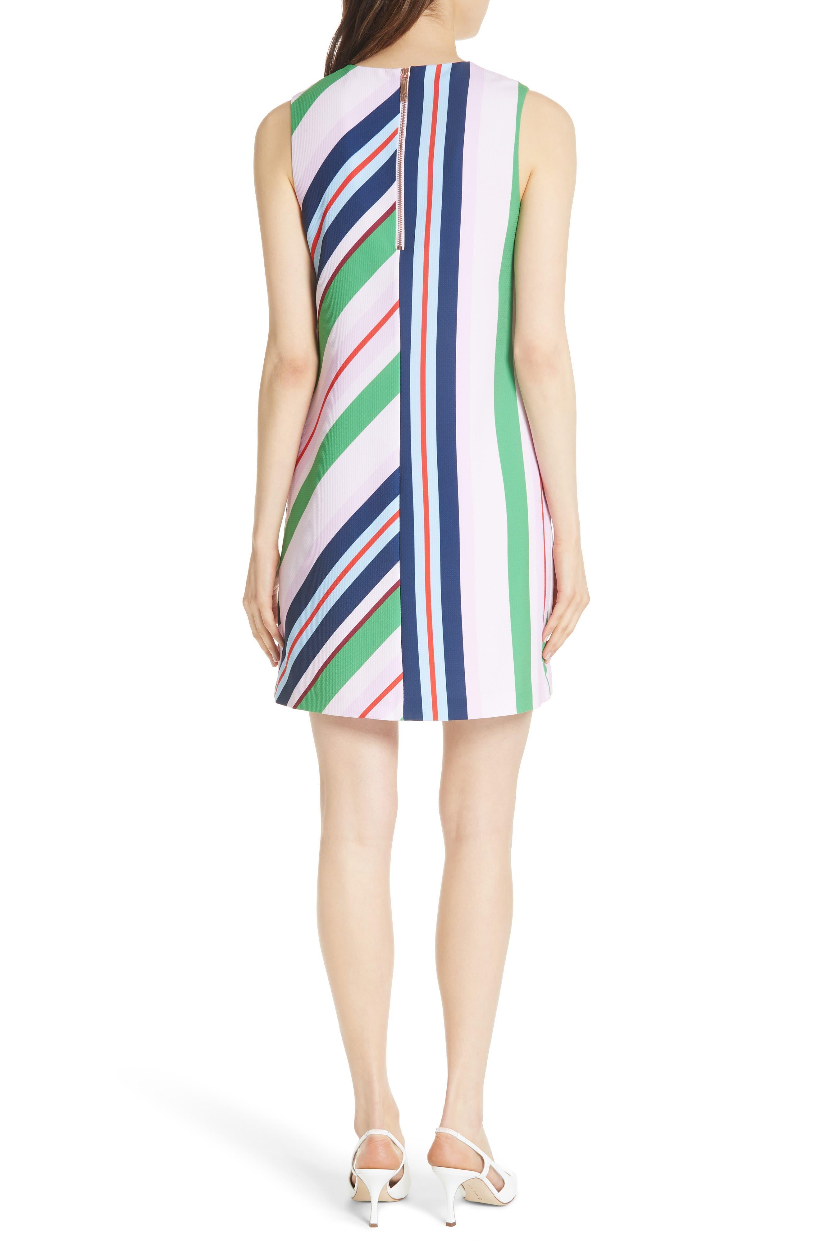 Stripe Shift Dress,                             Alternate thumbnail 2, color,                             680