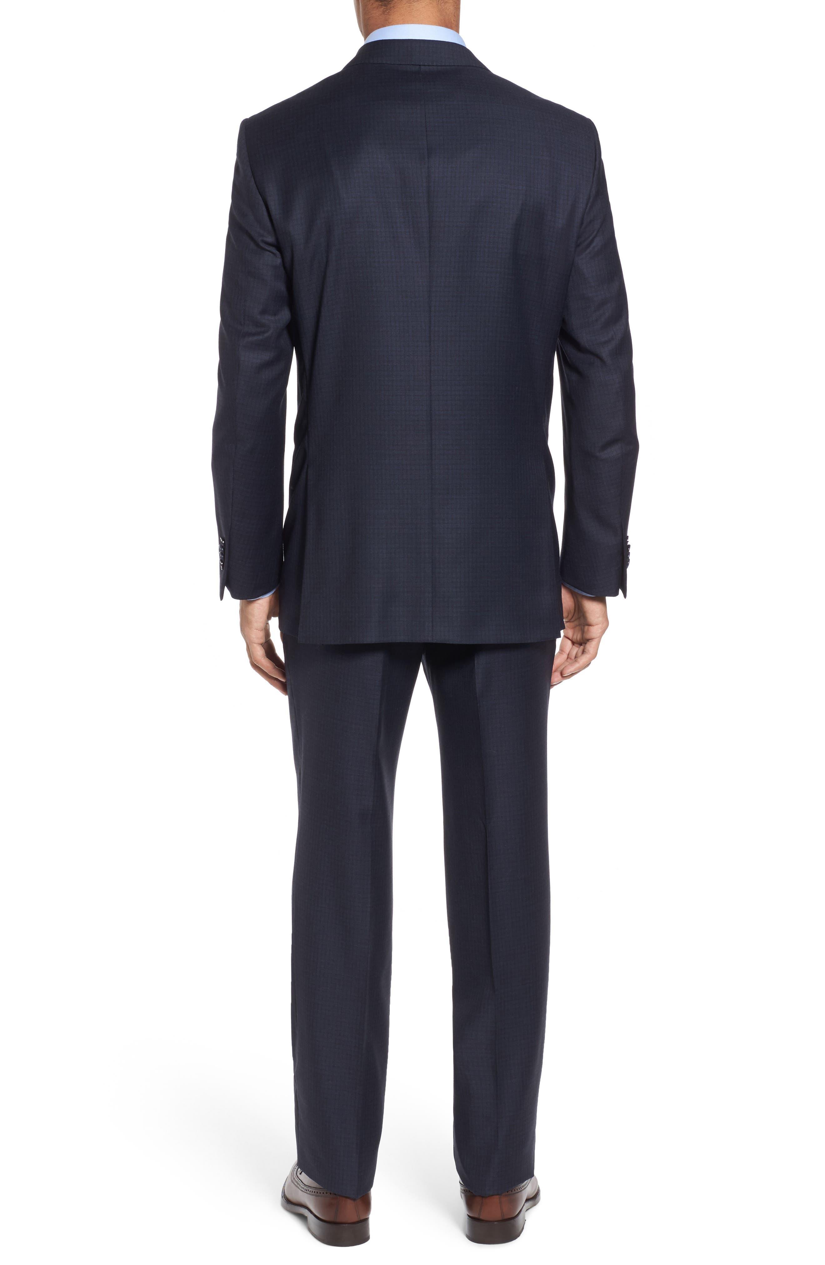 Classic Fit Check Wool Suit,                             Alternate thumbnail 2, color,                             410