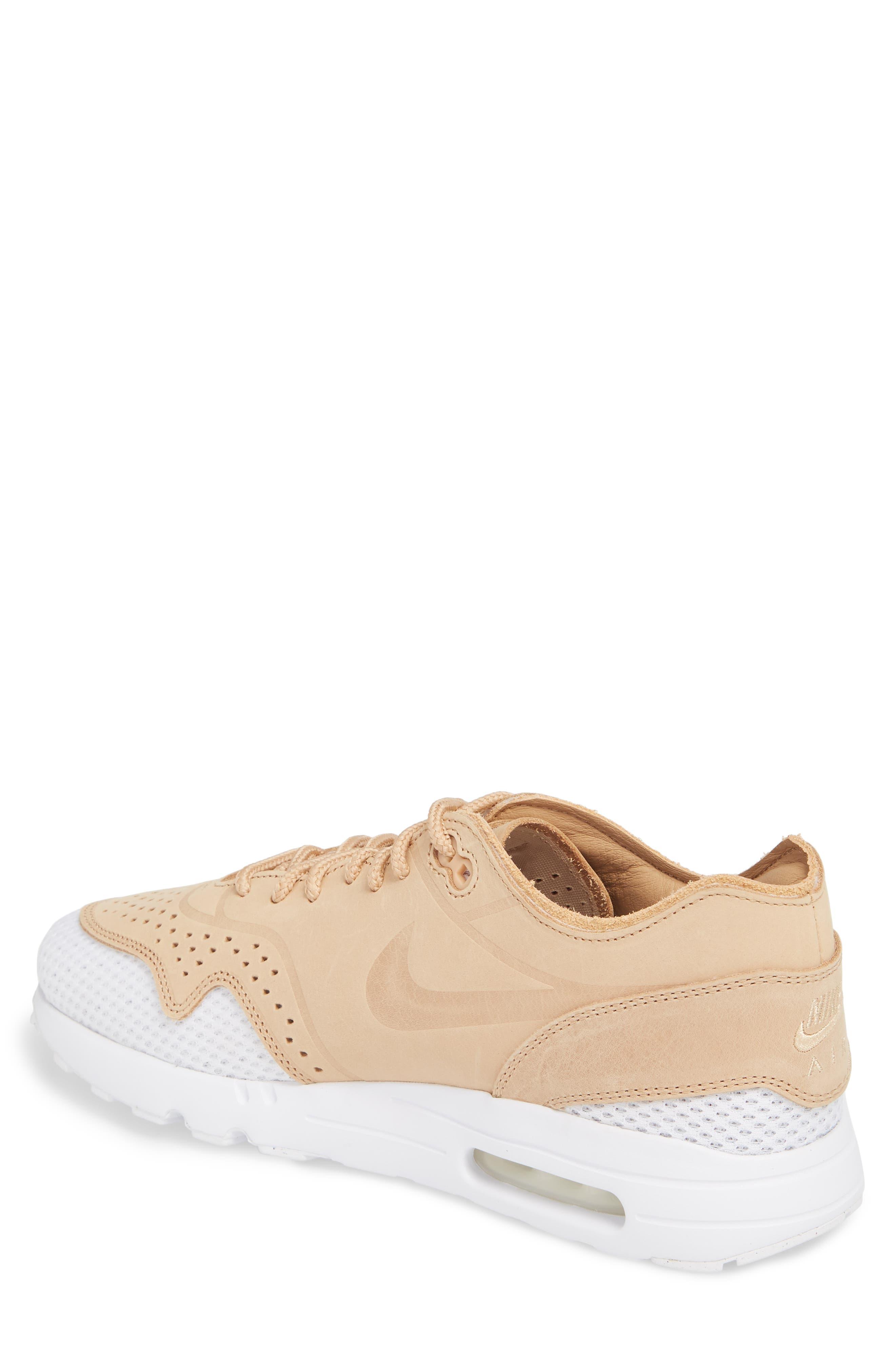 Air Max 1 Ultra 2.0 Premium Sneaker,                             Alternate thumbnail 2, color,                             VACHETTA TAN/ WHITE