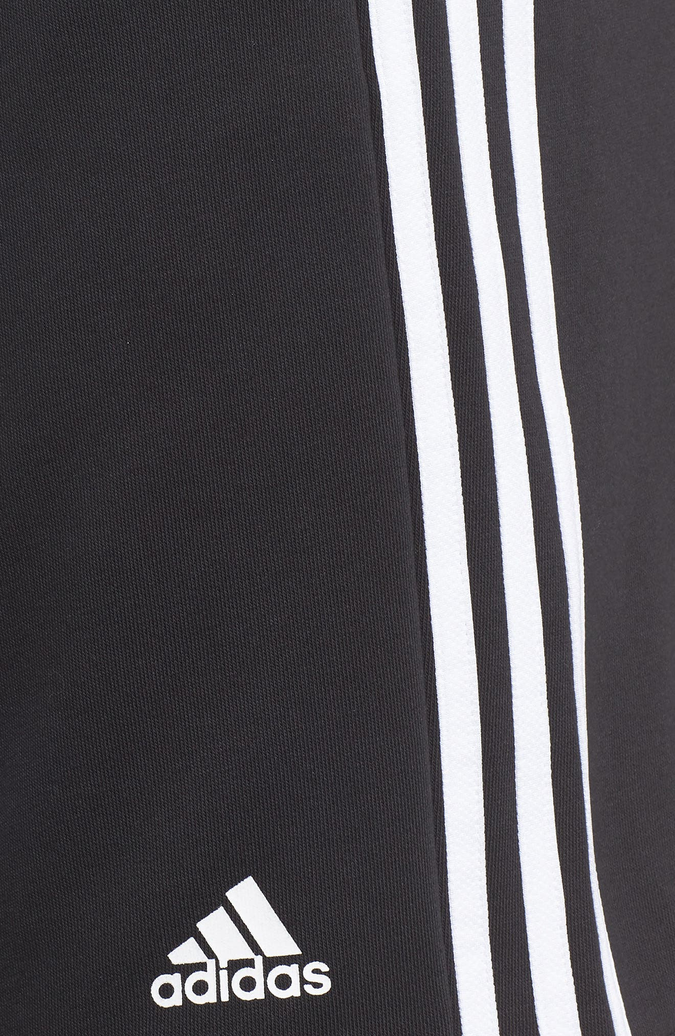 ADIDAS,                             Essentials French Terry Shorts,                             Alternate thumbnail 4, color,                             BLACK/ WHITE