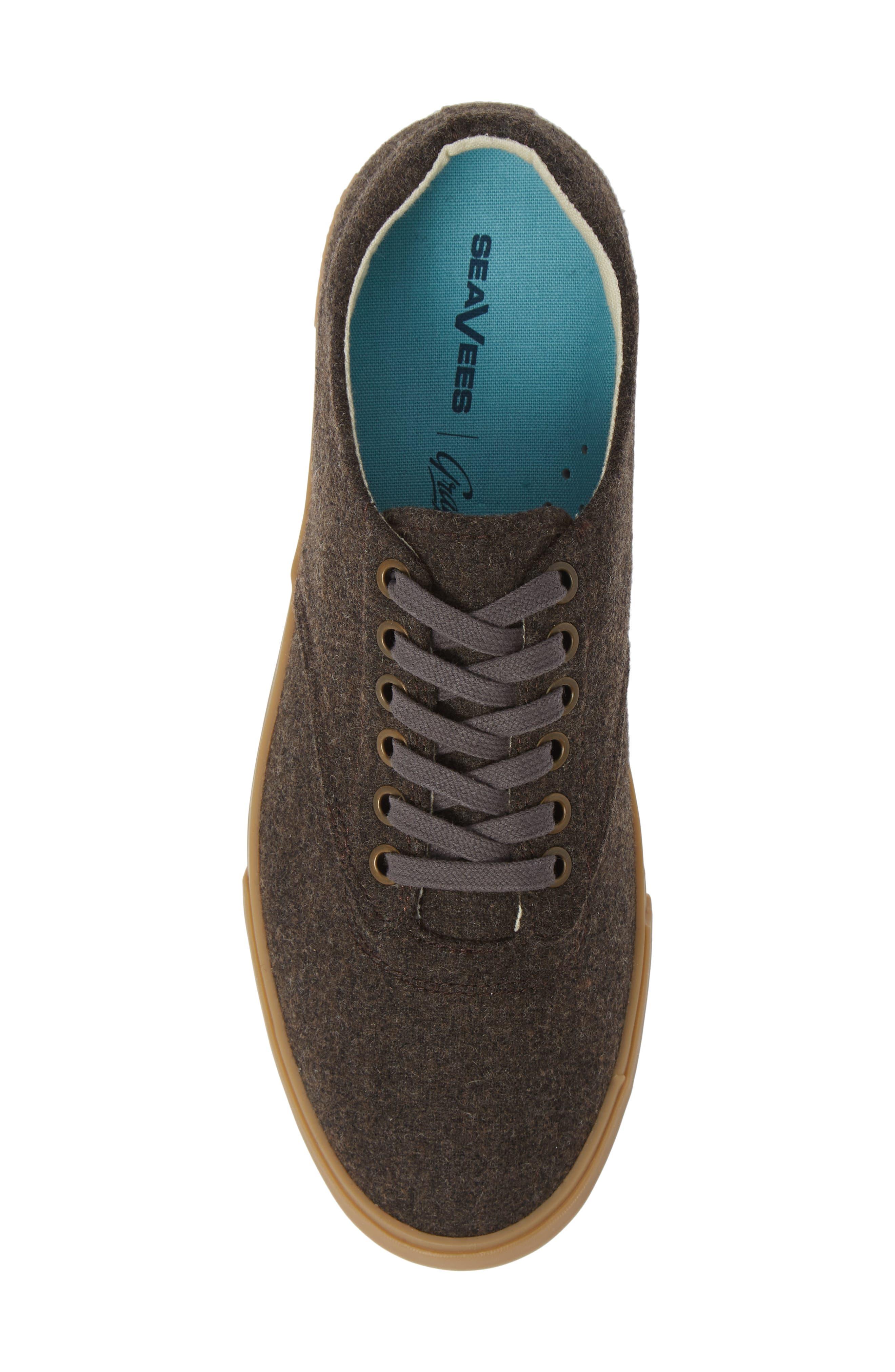 Hermosa Grayers Sneaker,                             Alternate thumbnail 5, color,                             DARK BROWN WOOL FLANNEL