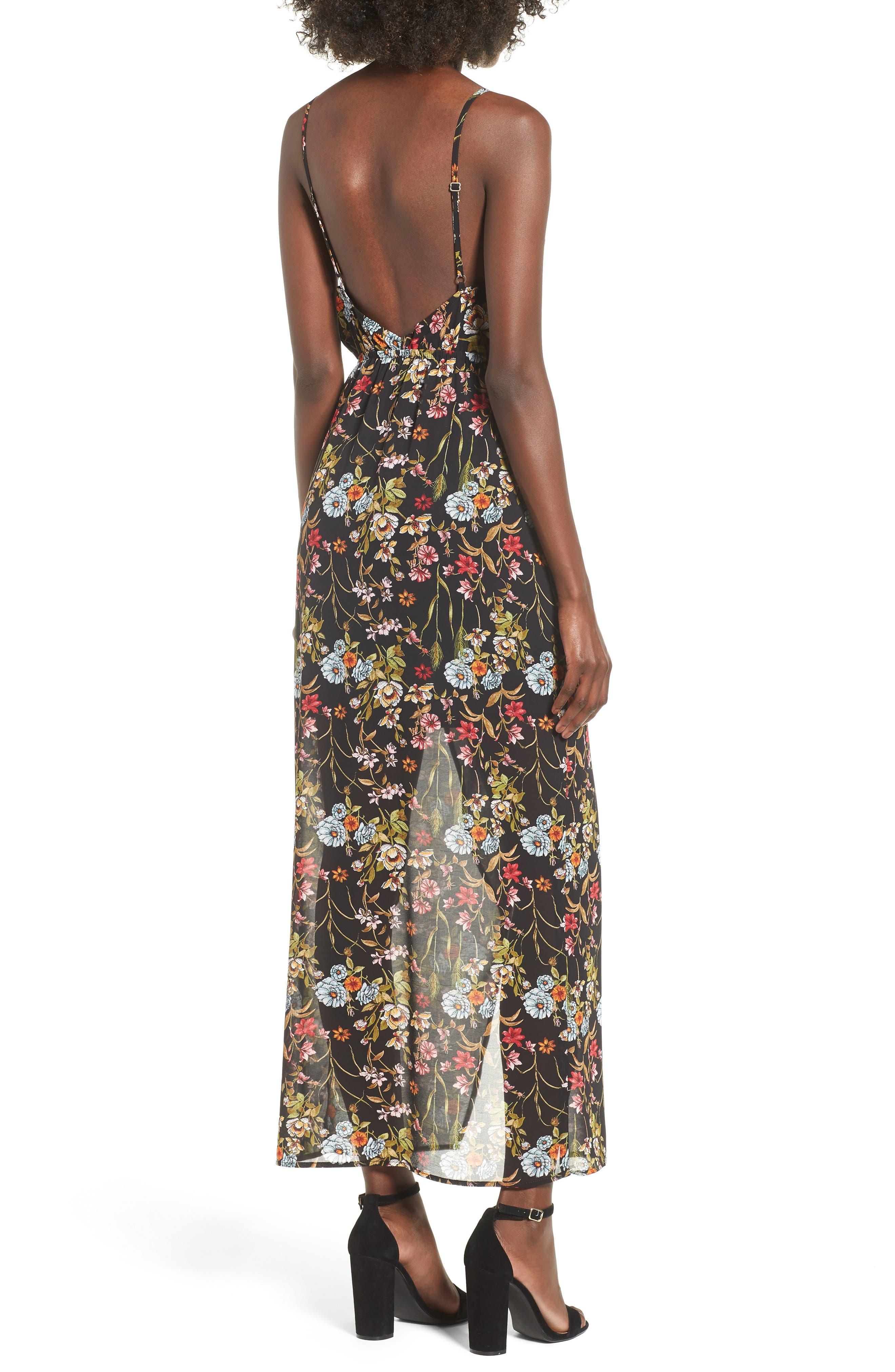 Surplice High/Low Maxi Dress,                             Alternate thumbnail 2, color,
