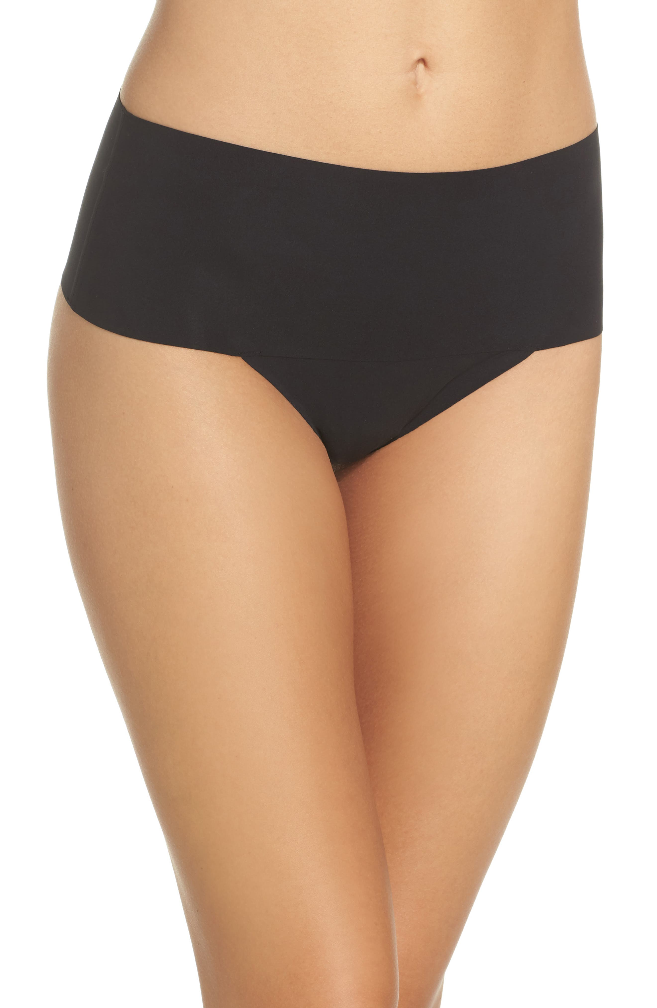 SPANX<SUP>®</SUP> Undie-tectable Thong, Main, color, VERY BLACK