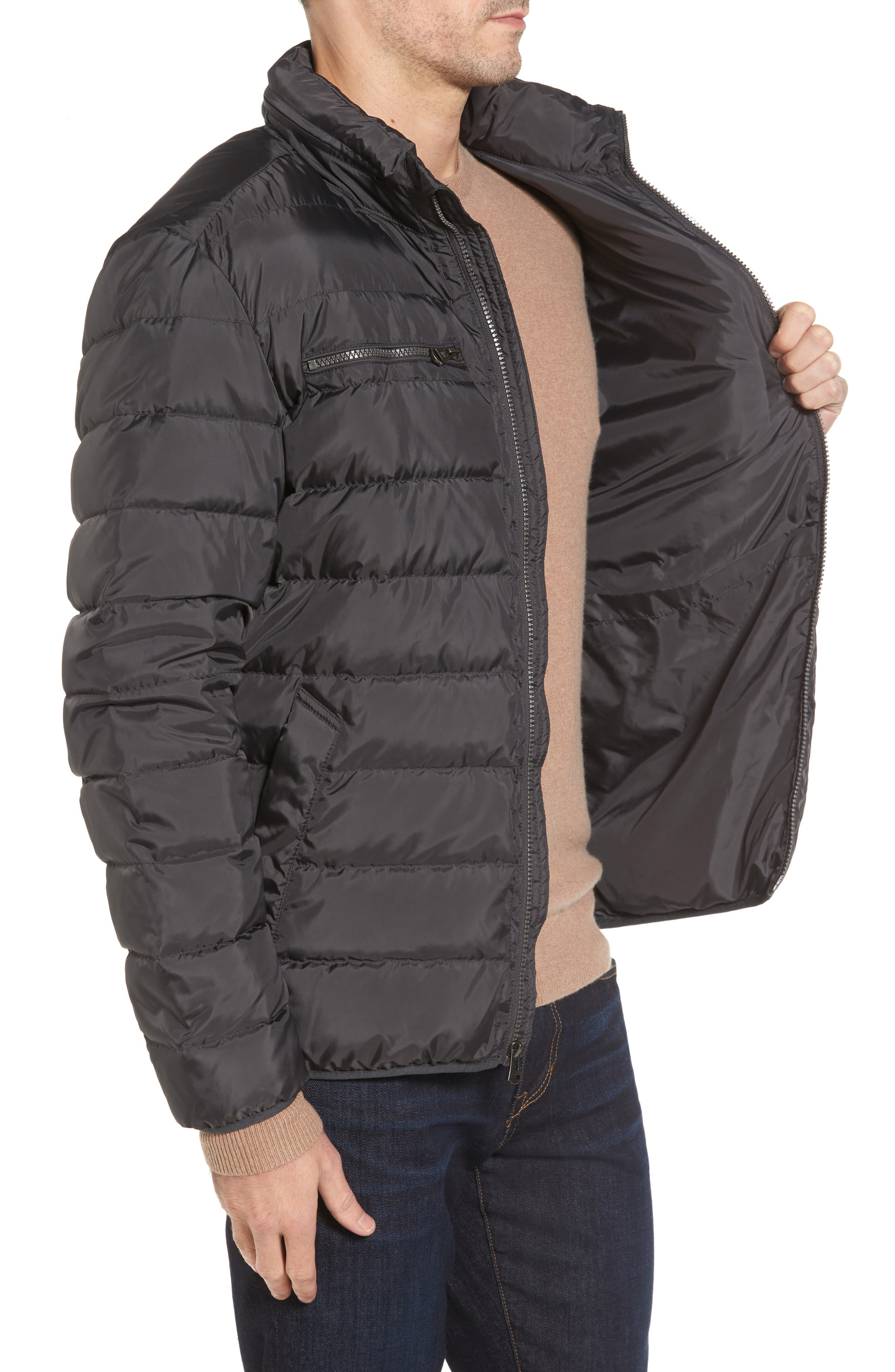 Packable Down Jacket,                             Alternate thumbnail 3, color,                             GREY