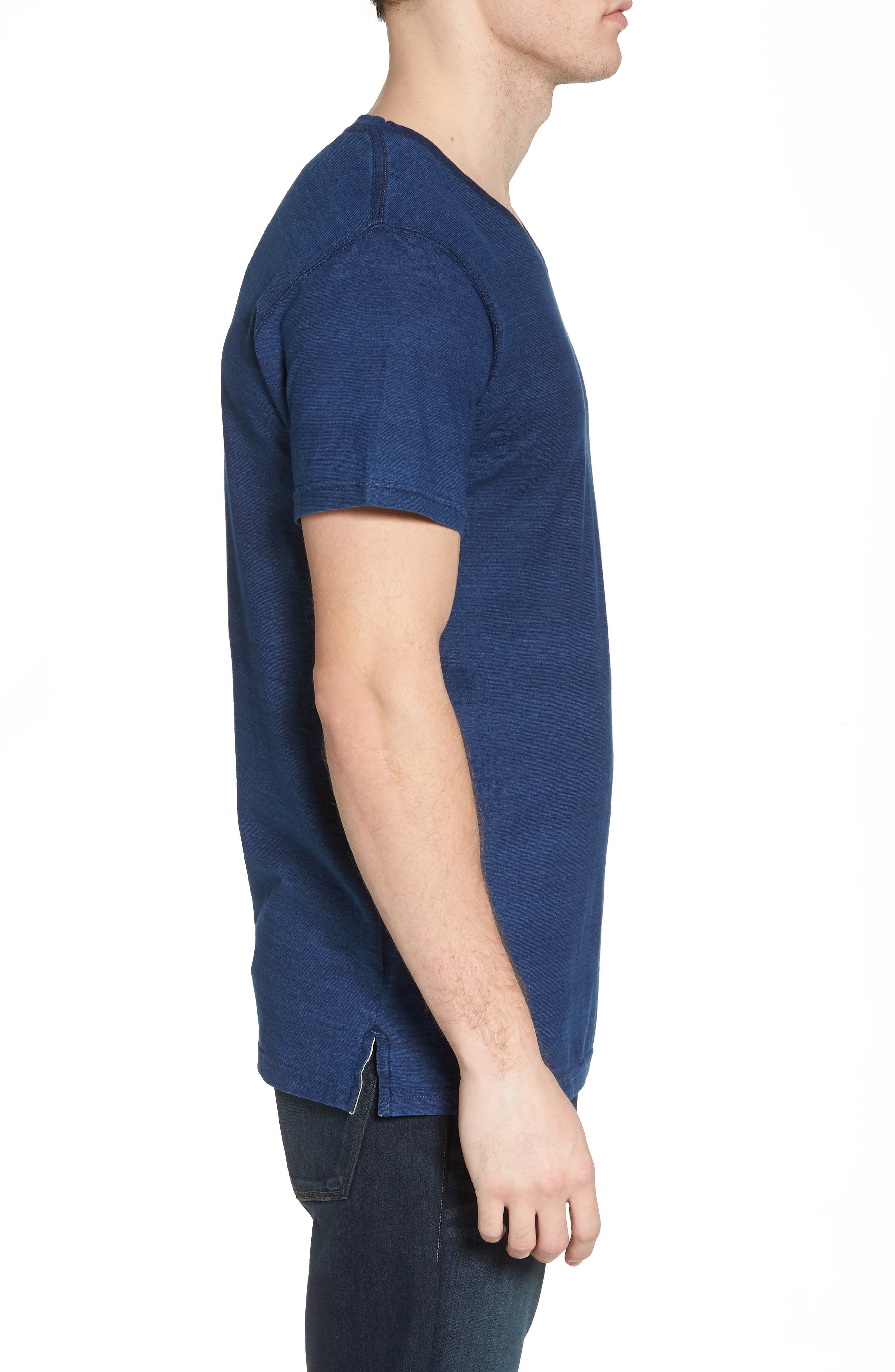 Marlon Slim Fit V-Neck Tee,                             Alternate thumbnail 3, color,                             401