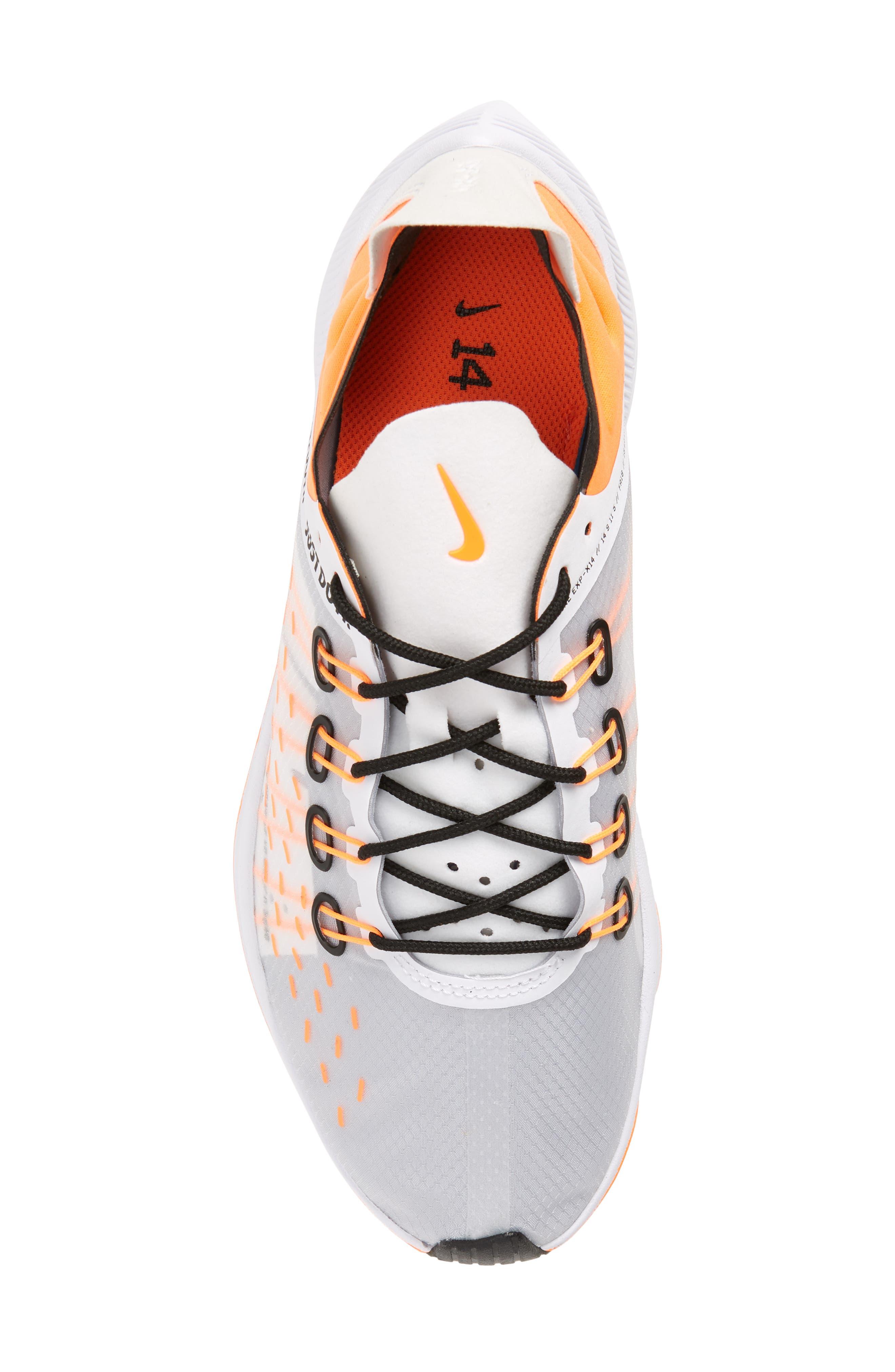 EXP-X14 Just Do It Sneaker,                             Alternate thumbnail 5, color,                             WHITE/ TOTAL ORANGE/ BLACK