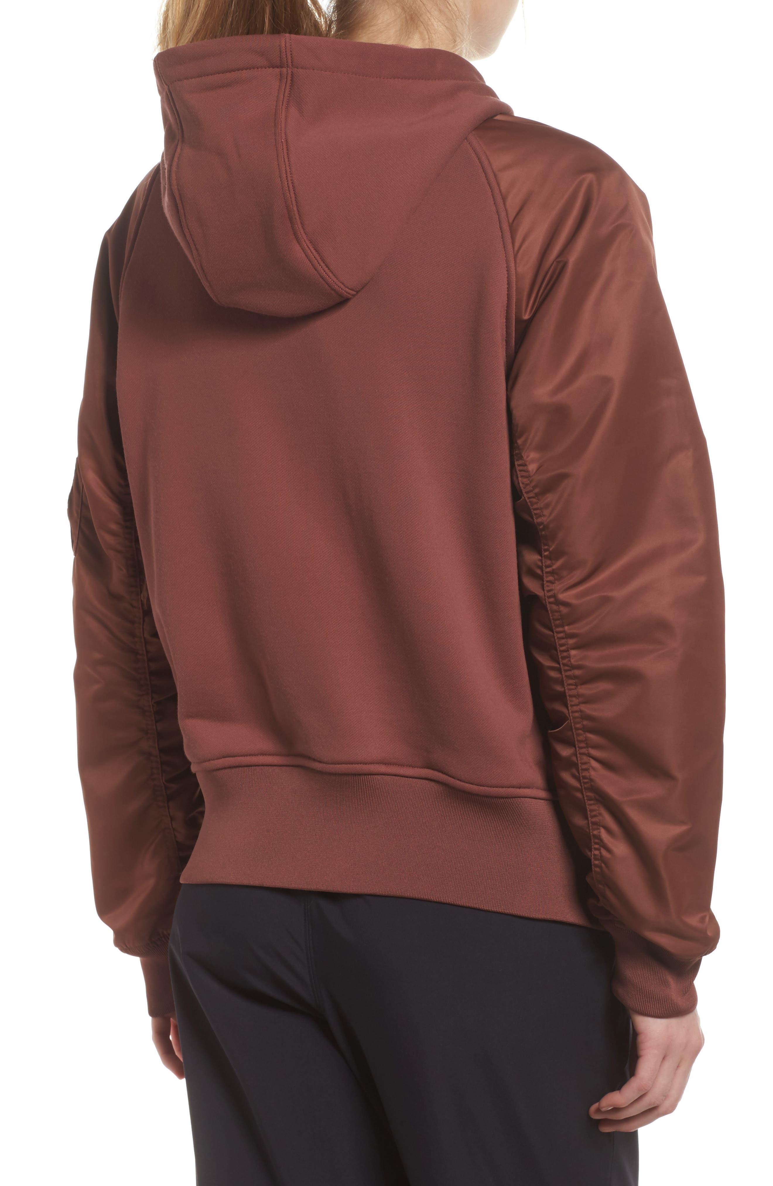 NikeLab Women's Mixed Media Bomber Jacket,                             Alternate thumbnail 4, color,