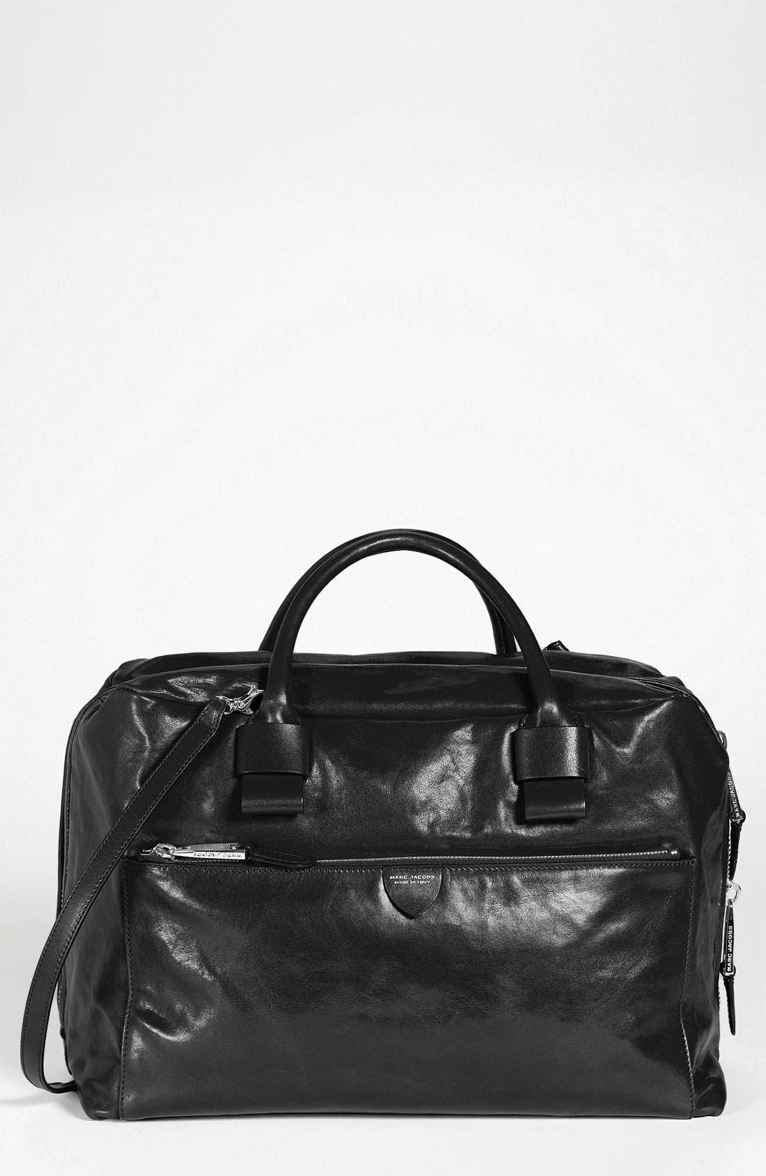 MARC JACOBS 'Antonia'  Leather Satchel, Main, color, 001