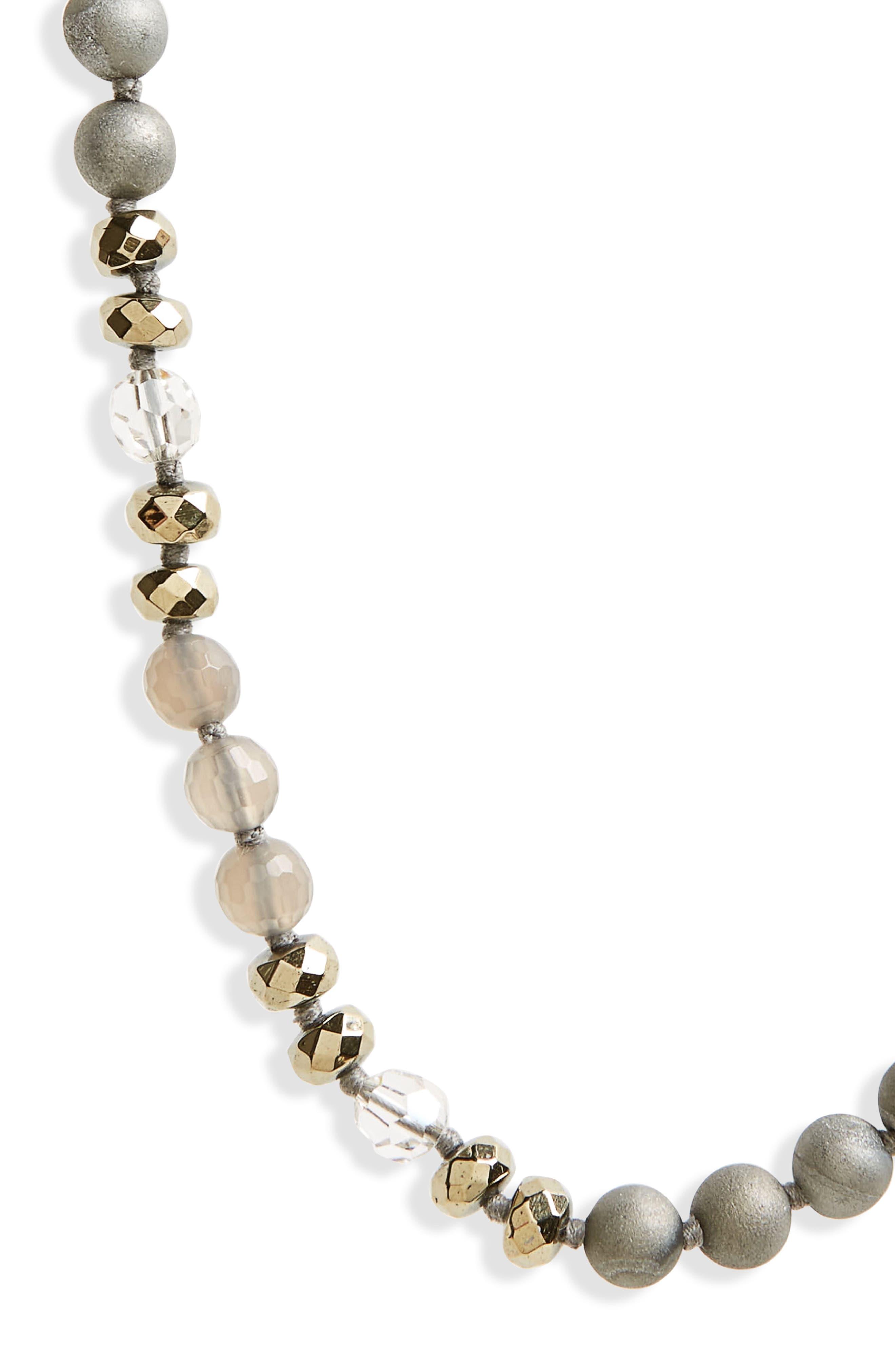 Semiprecious Stone & Crystal Necklace,                             Alternate thumbnail 4, color,