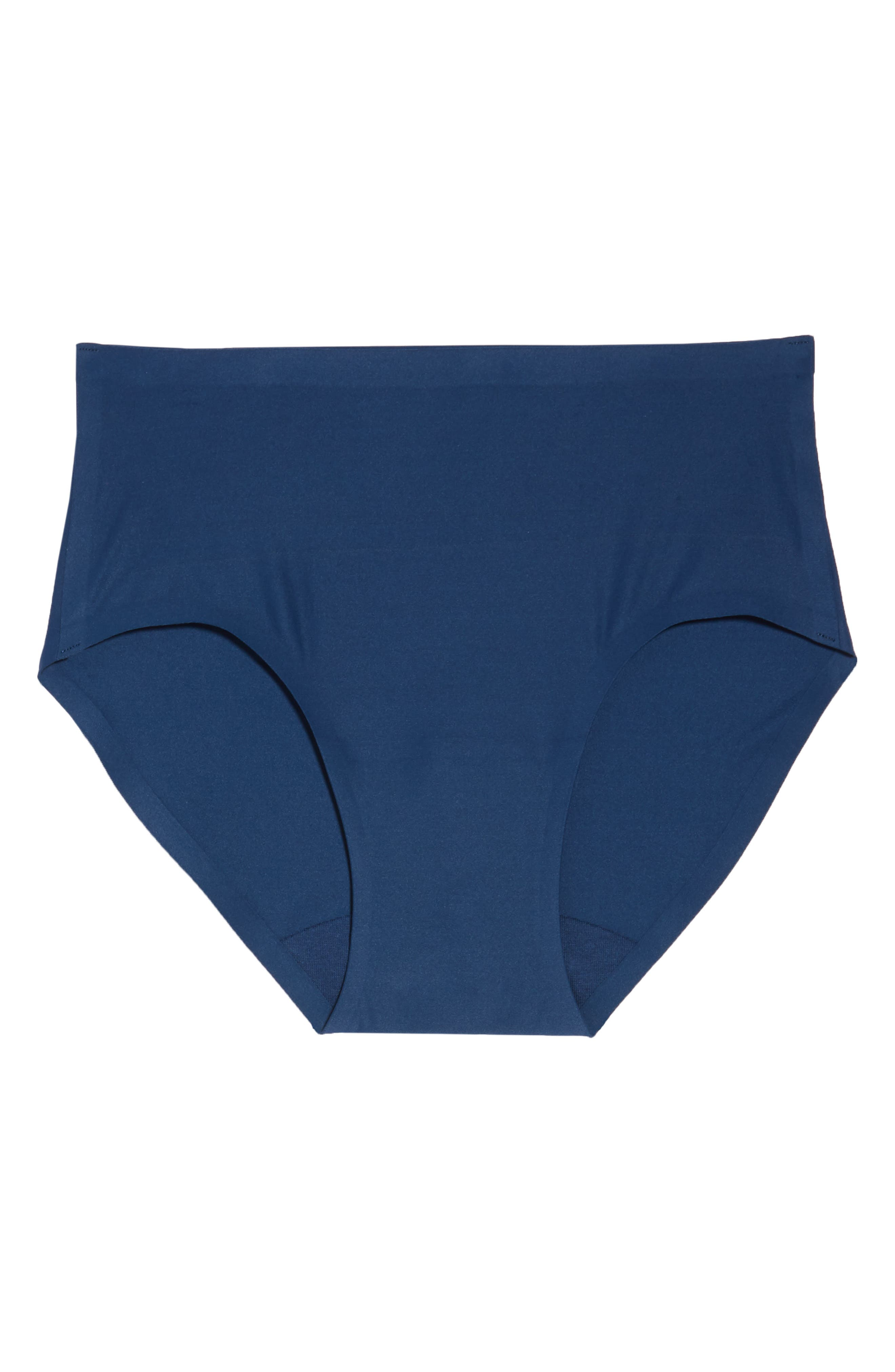 Soft Stretch Seamless Hipster Panties,                             Alternate thumbnail 6, color,                             DEEP BLUE