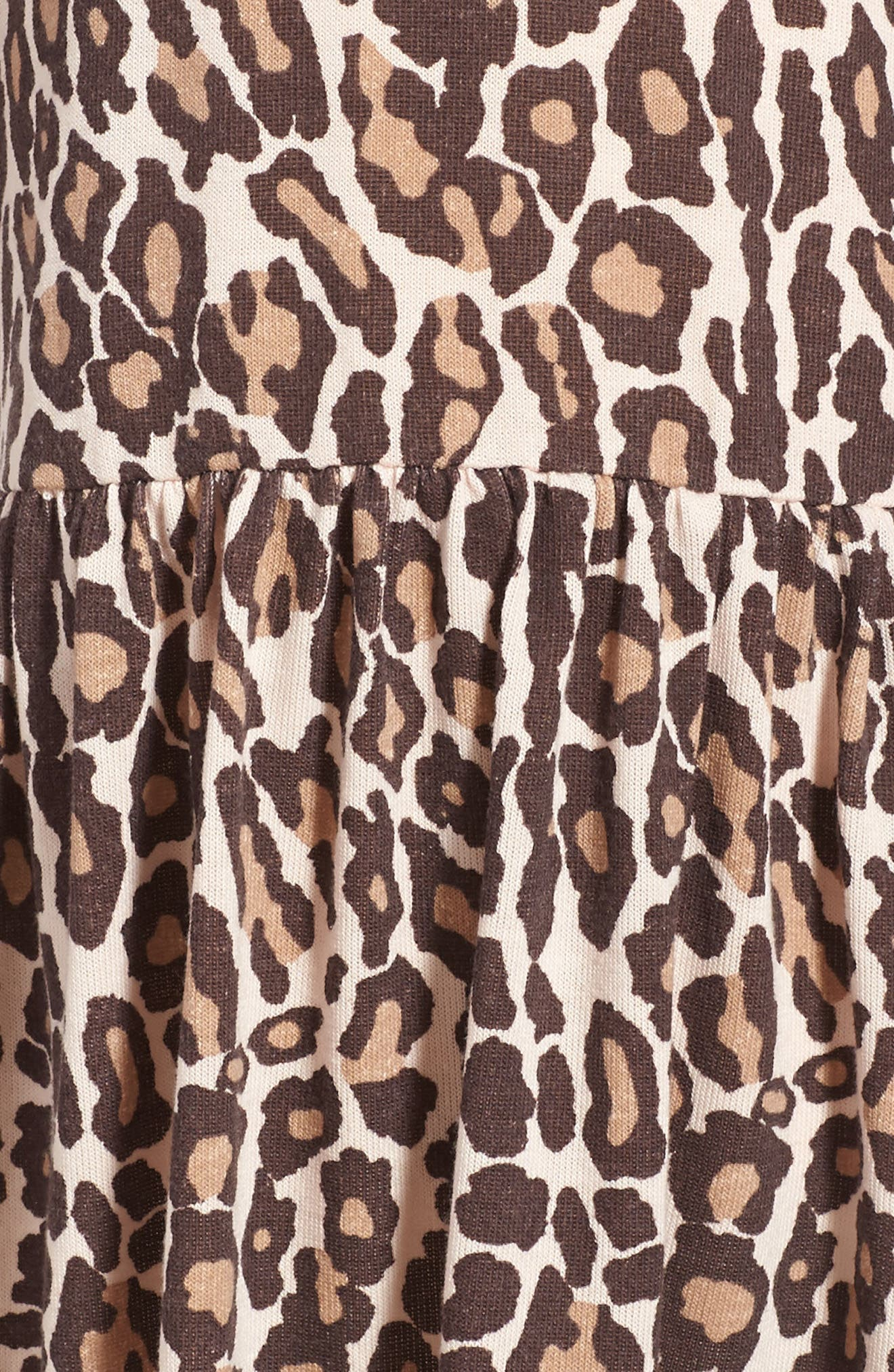 Animal Print Loose Knit Dress,                             Alternate thumbnail 3, color,                             255